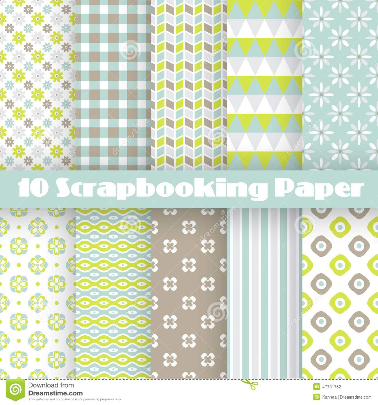 Pattern Papers For Scrapbook Stock Vector Illustration Of Pale