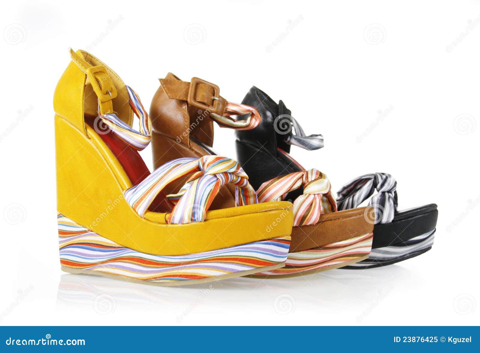 Pattern platform shoes collection