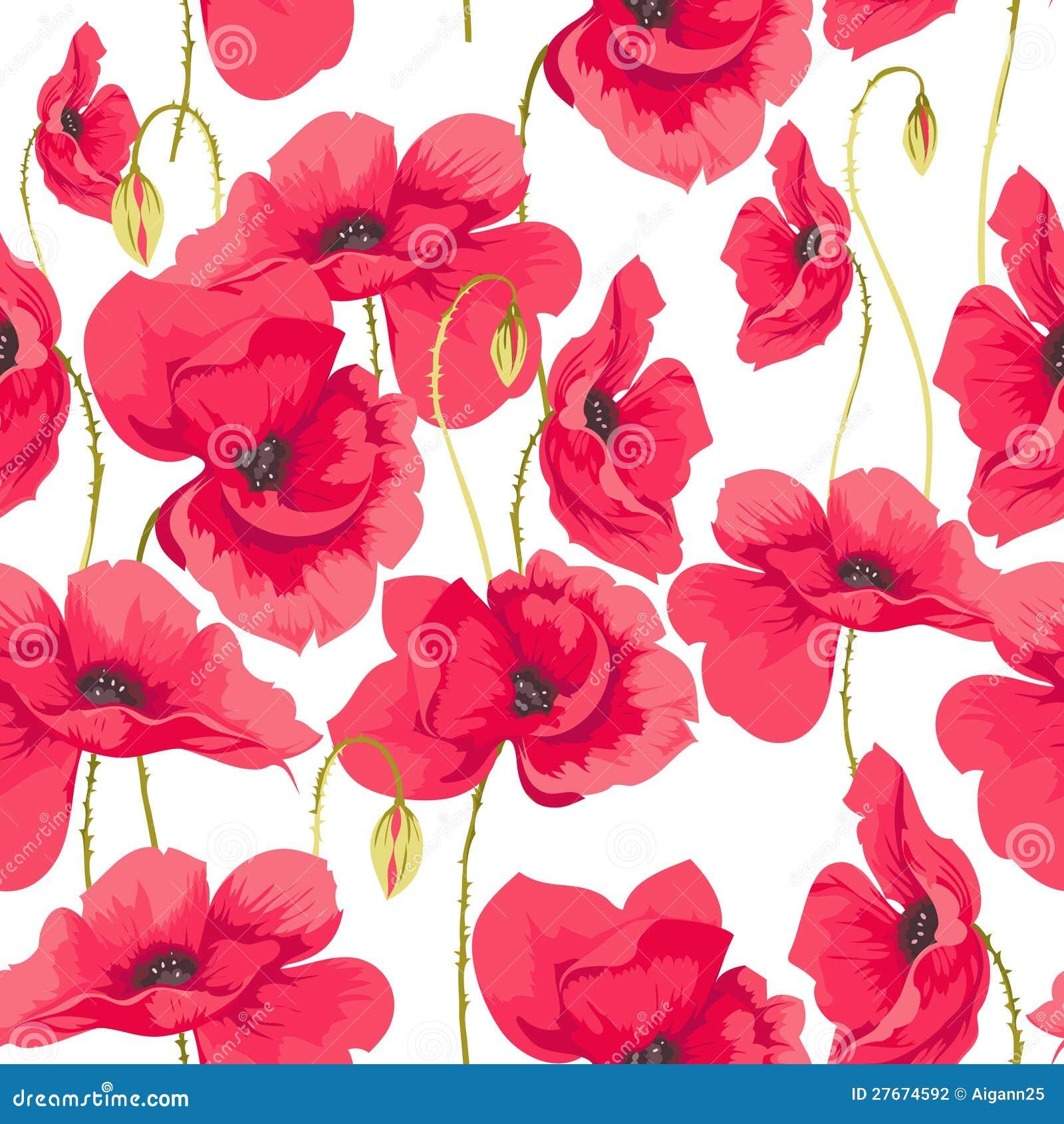 pattern of poppy flowers stock vector illustration of fashion