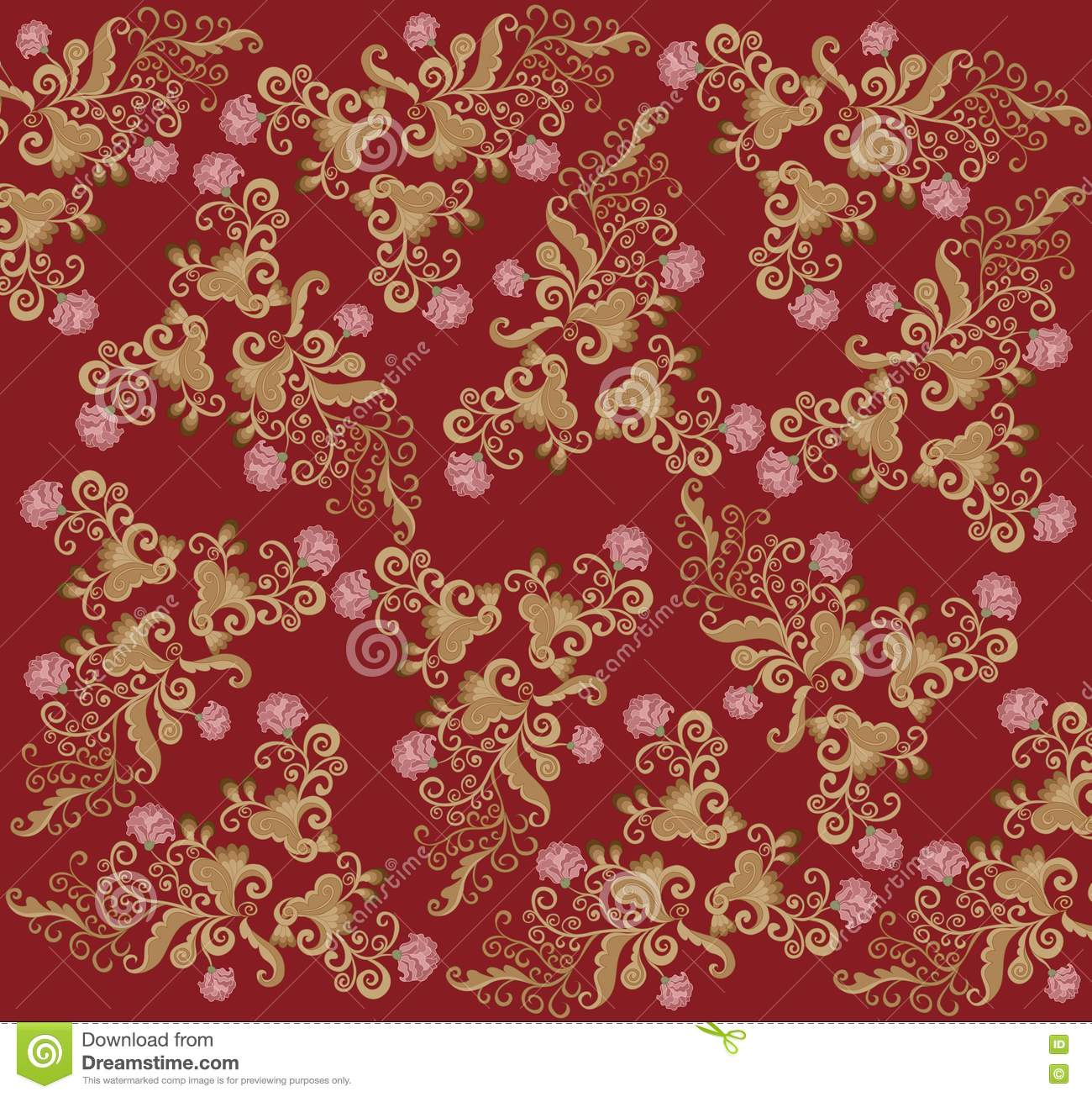 Pattern Rococo Stock Vector Illustration Of Curl Modern