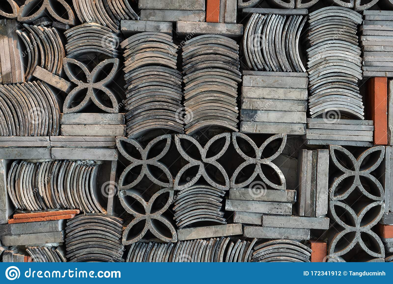 Pattern Of Roof Tiles And Bricks Stock Photo Image Of Ancient Roofing 172341912