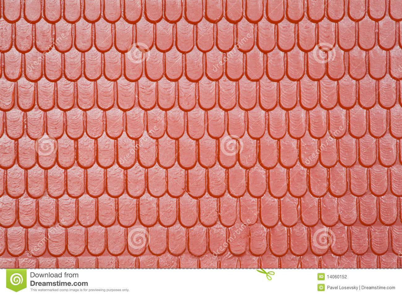 Pattern Of Roof Of Toy House In Form Of Tile Stock Photo