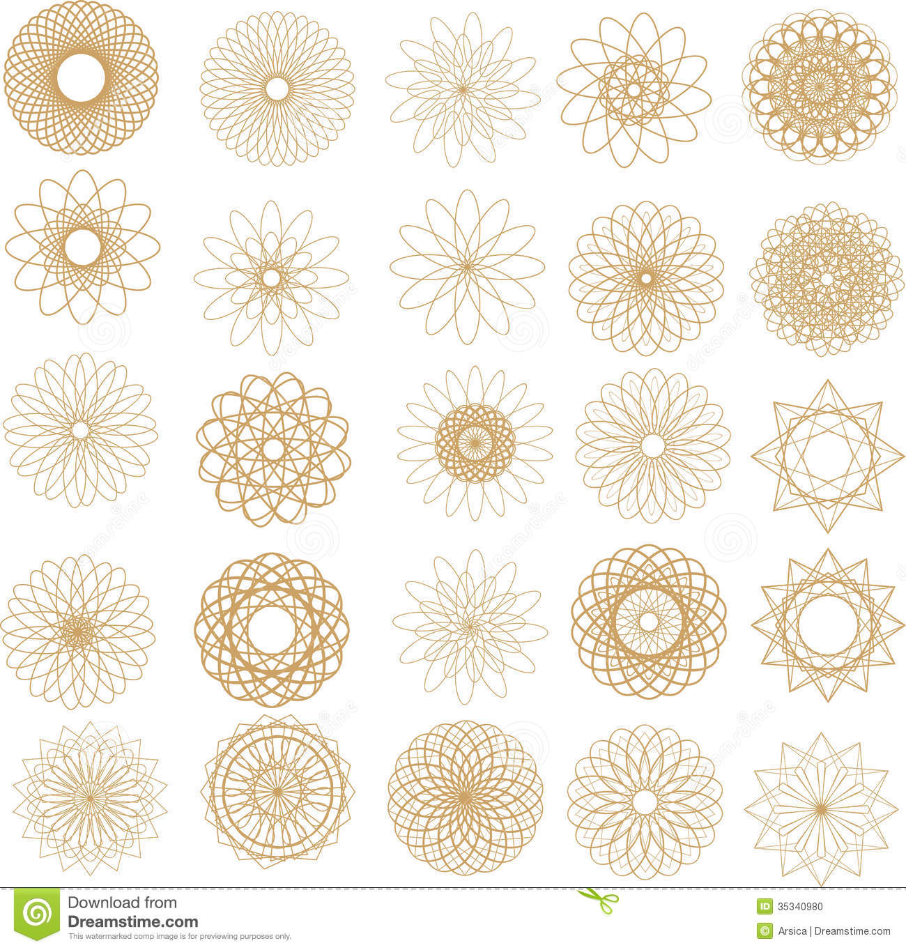 Pattern Of Round Design Elements Stock Photo Image 35340980