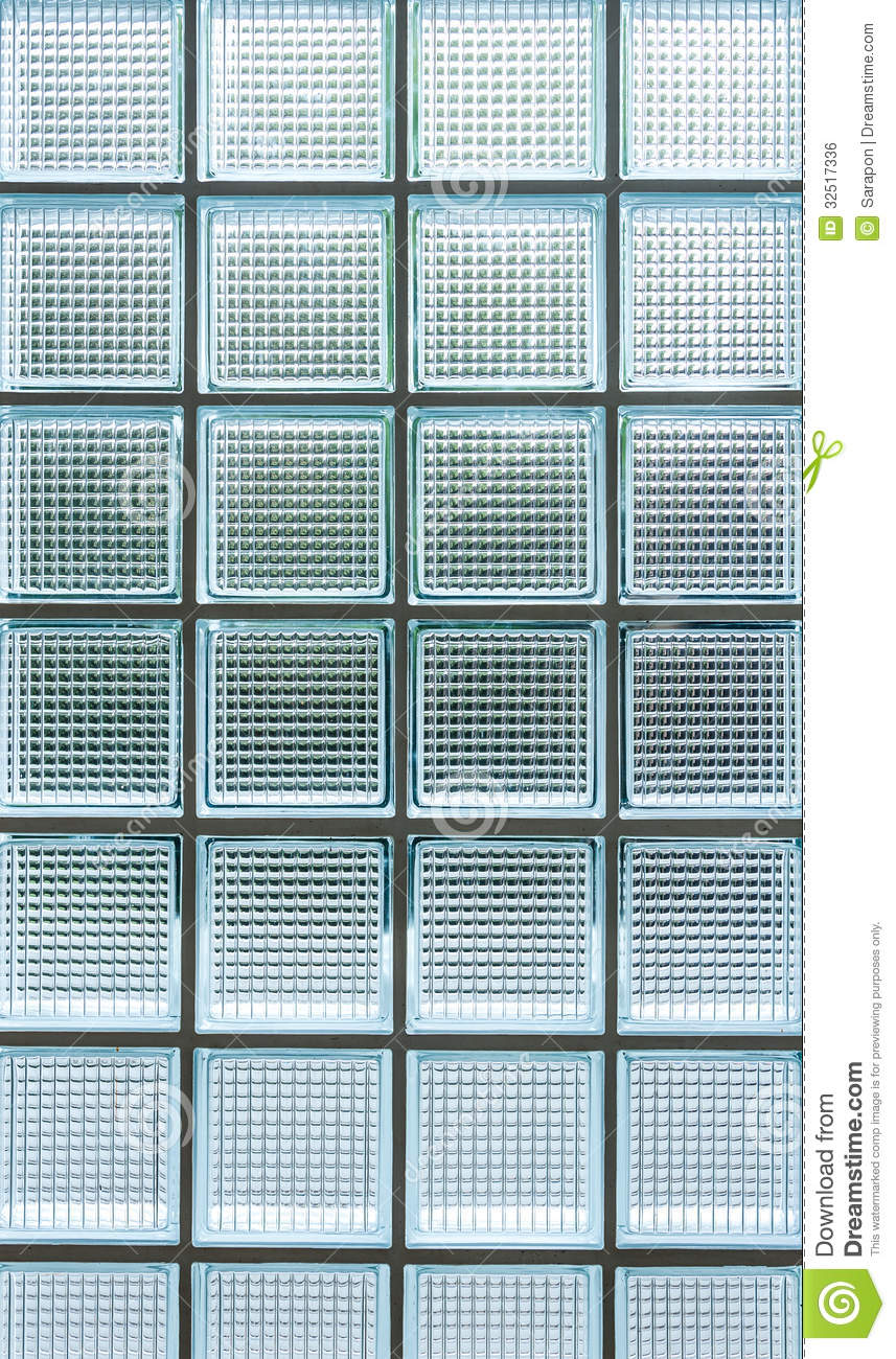 Pattern Of Seamless Clear White Glass Wall Stock Photo