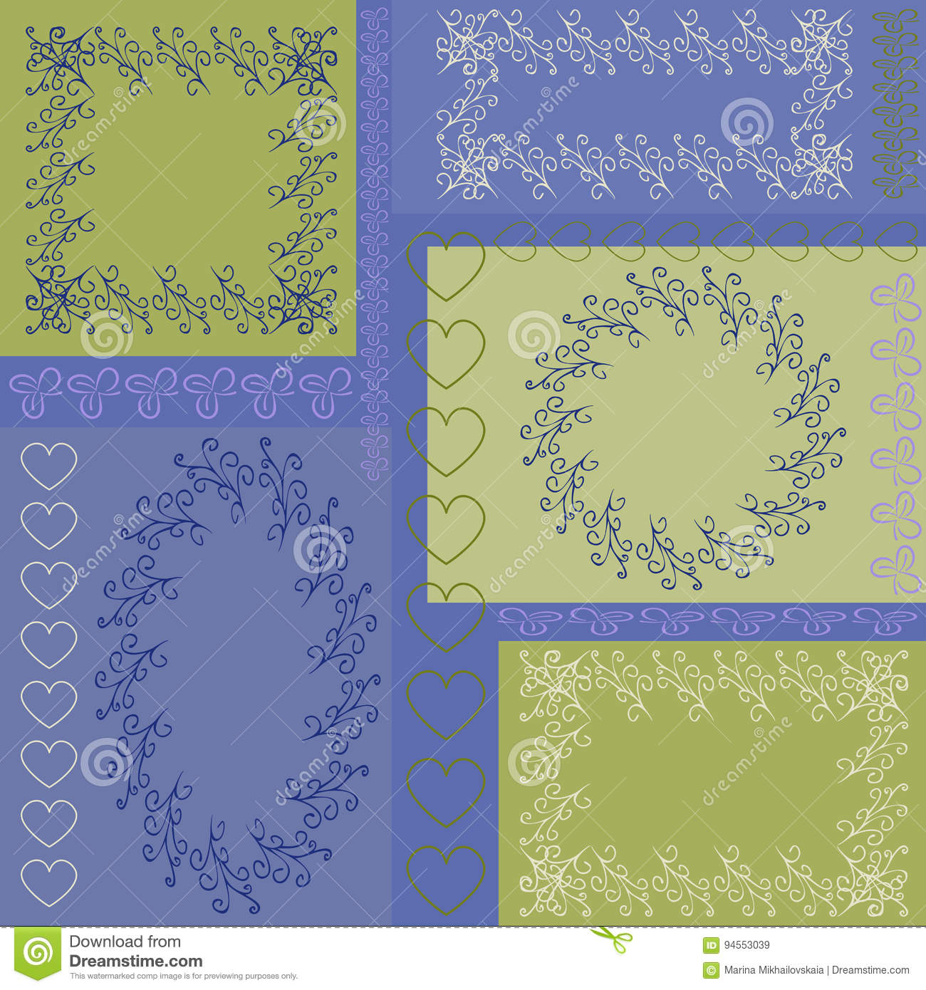 Pattern seamless of rectangles with lace frames and patterns in pastel colors for fabric - Pastel lace wallpaper ...