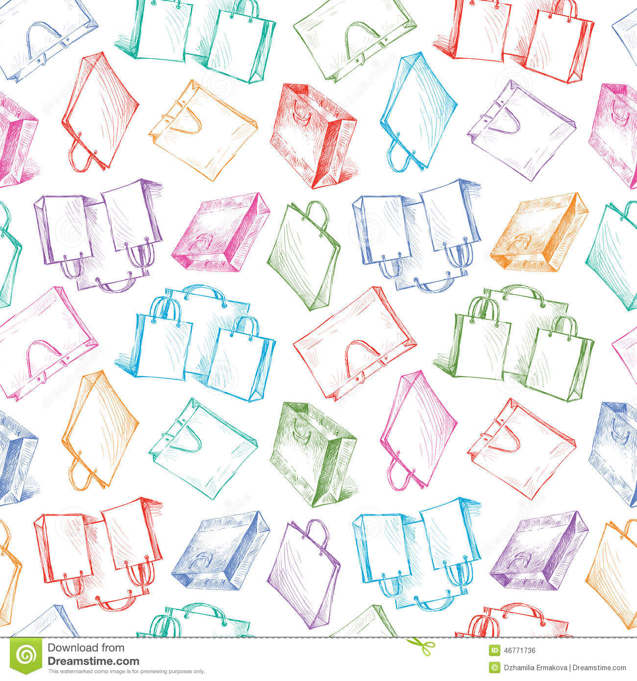 Pattern With A Shopping Bags Stock Photo - Image: 46771736