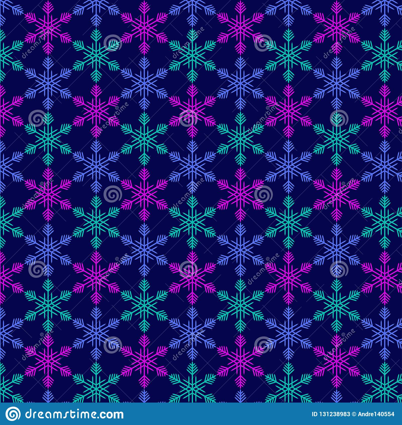 Pattern from snowflake without seam