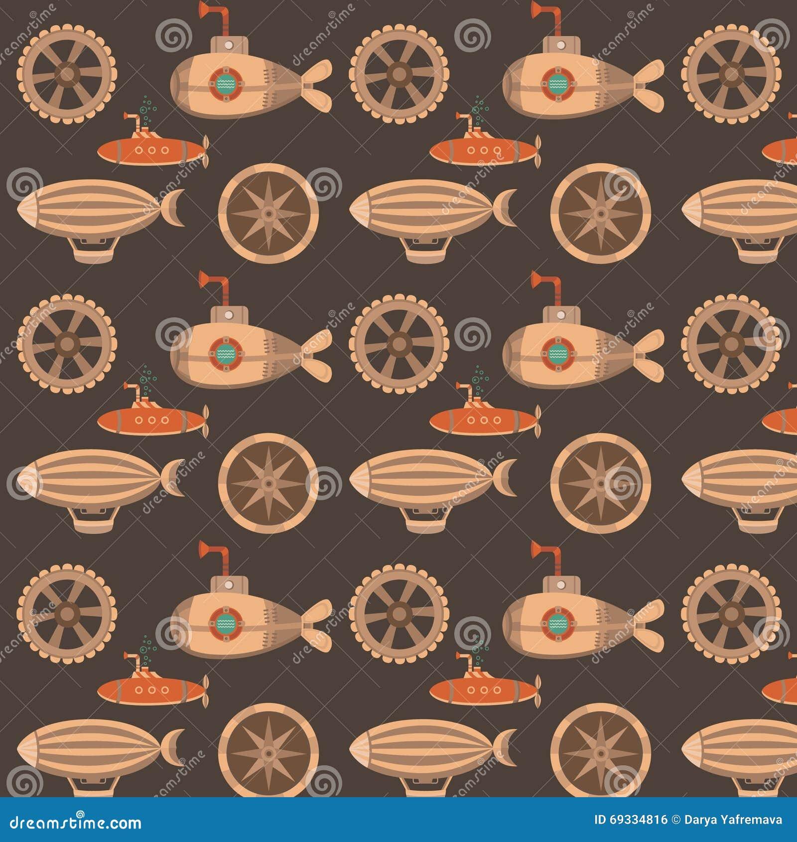 Pattern Steampunk Stock Illustration Illustration Of Century 69334816