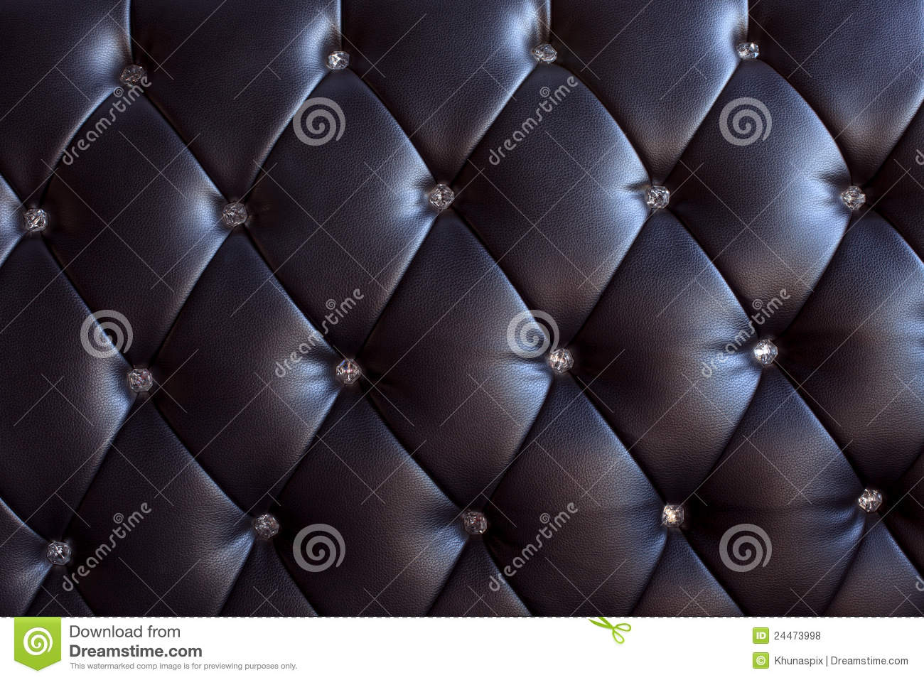 Pattern And Surface Of Sofa Leather With Crystal B Stock