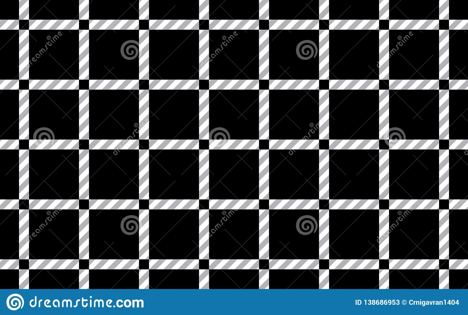 Pattern of tablecloths in black and white.Fabric Texture Background.Vector.-EPS-10