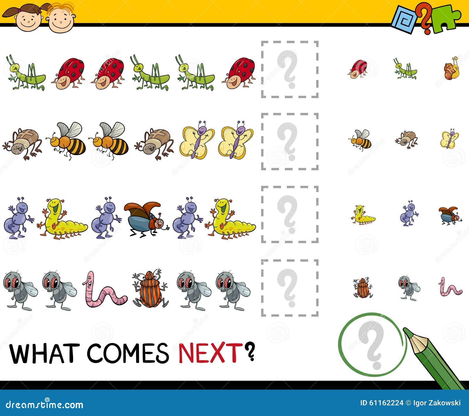 Pattern Task For Preschool Kids Stock Vector - Image: 61162224