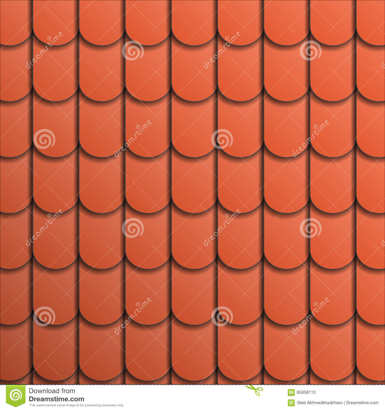 Pattern terracotta roof tile stock vector illustration of repeat pattern terracotta roof tile dailygadgetfo Image collections