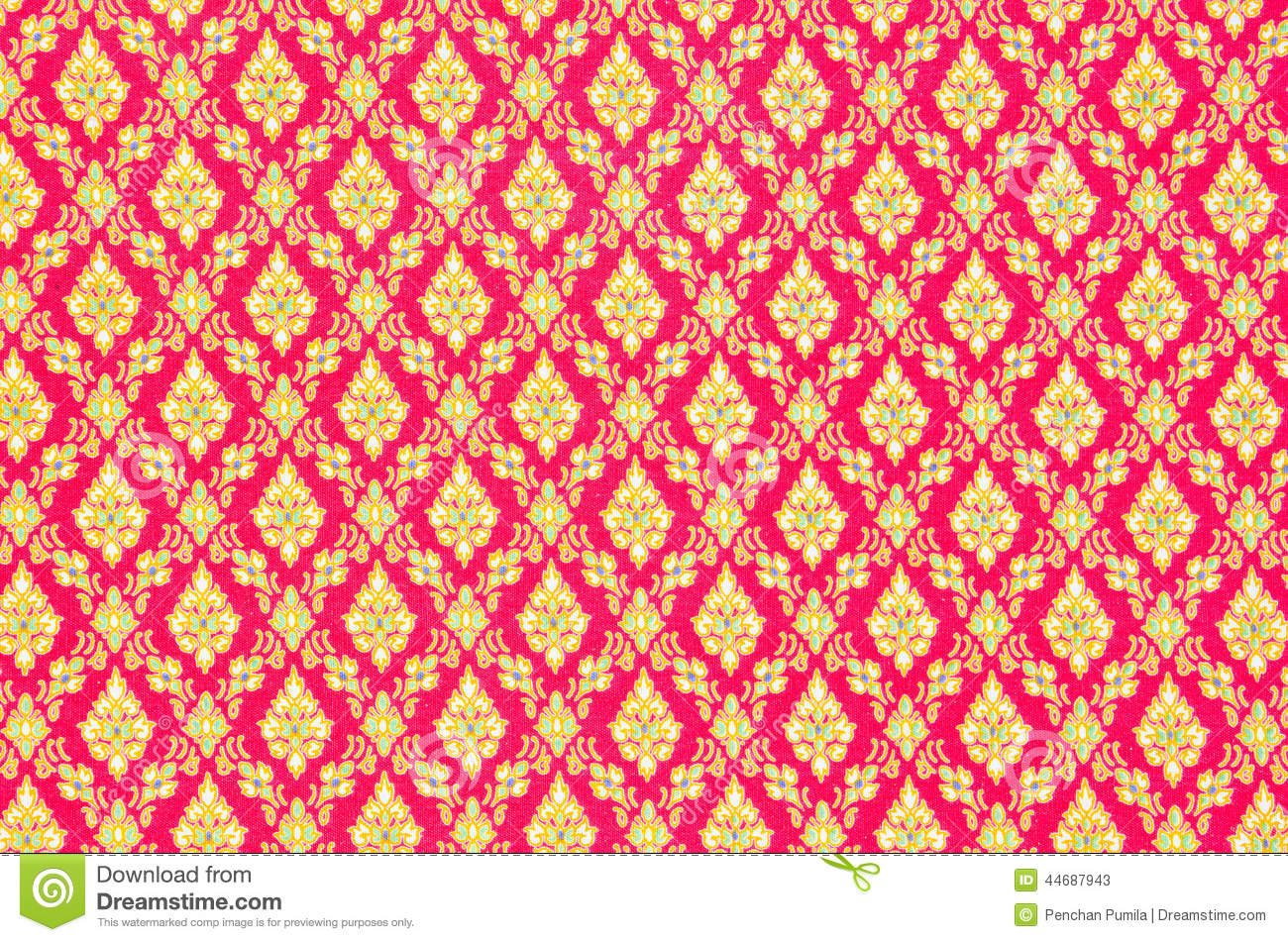 Pattern Texture Of General Traditional Thai Style Native Handmad Stock Image Image Of Cotton
