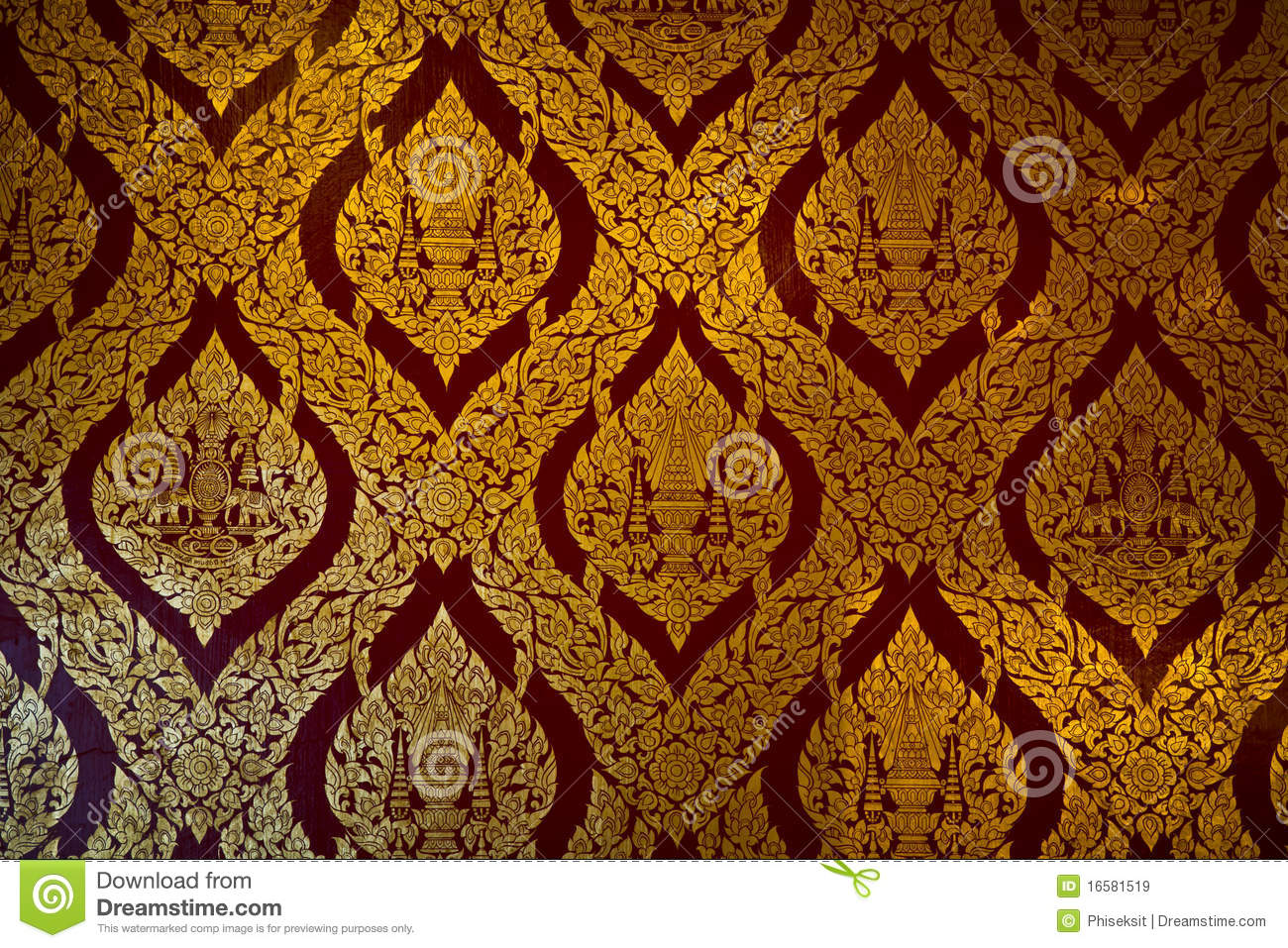 Thai Design Wallpaper : Pattern thai temple stock image of asian line