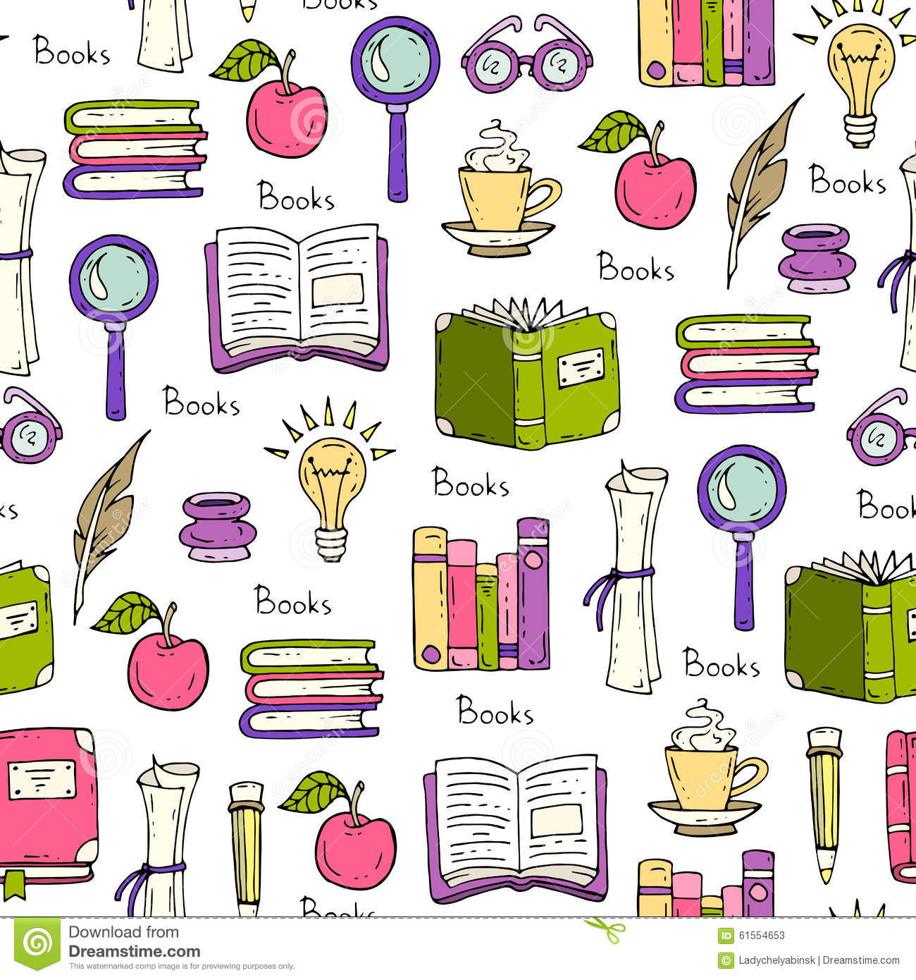 Pattern On The Theme Of Books And Education Stock Illustration