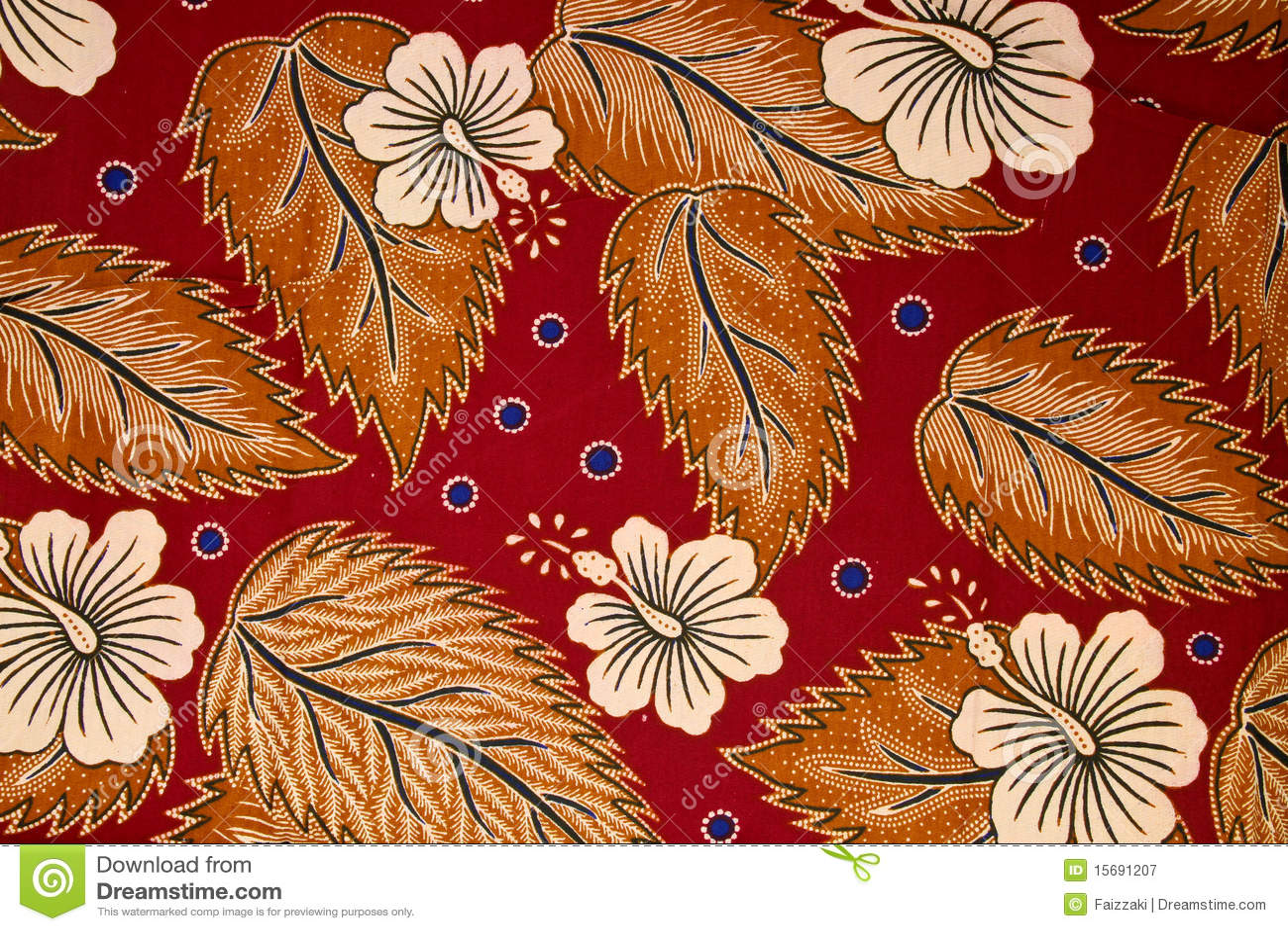 Pattern On Traditional Batik Sarong Royalty Free Stock
