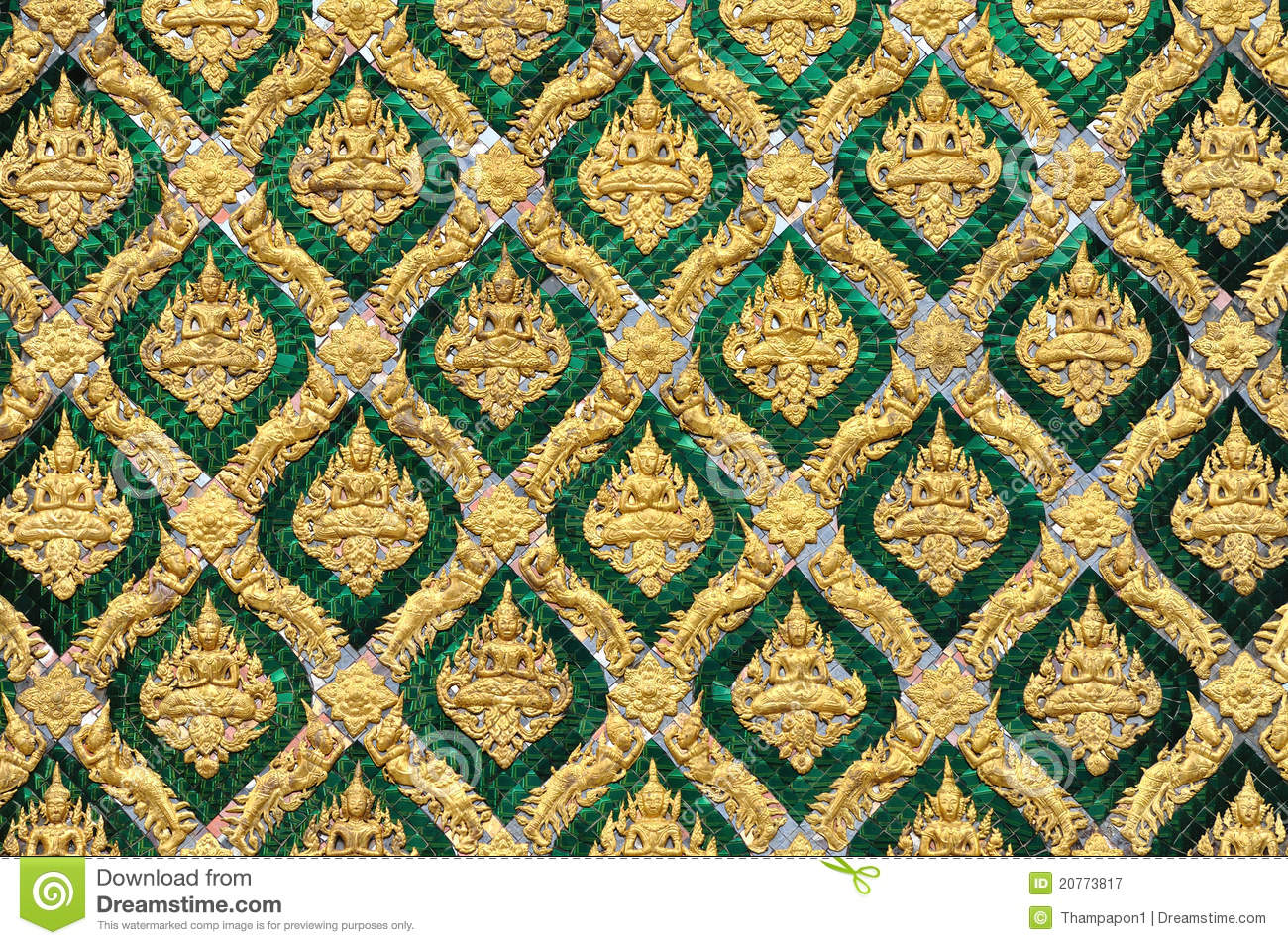 Pattern Of Traditional Thai Art Royalty Free Stock Photography Image 20773817