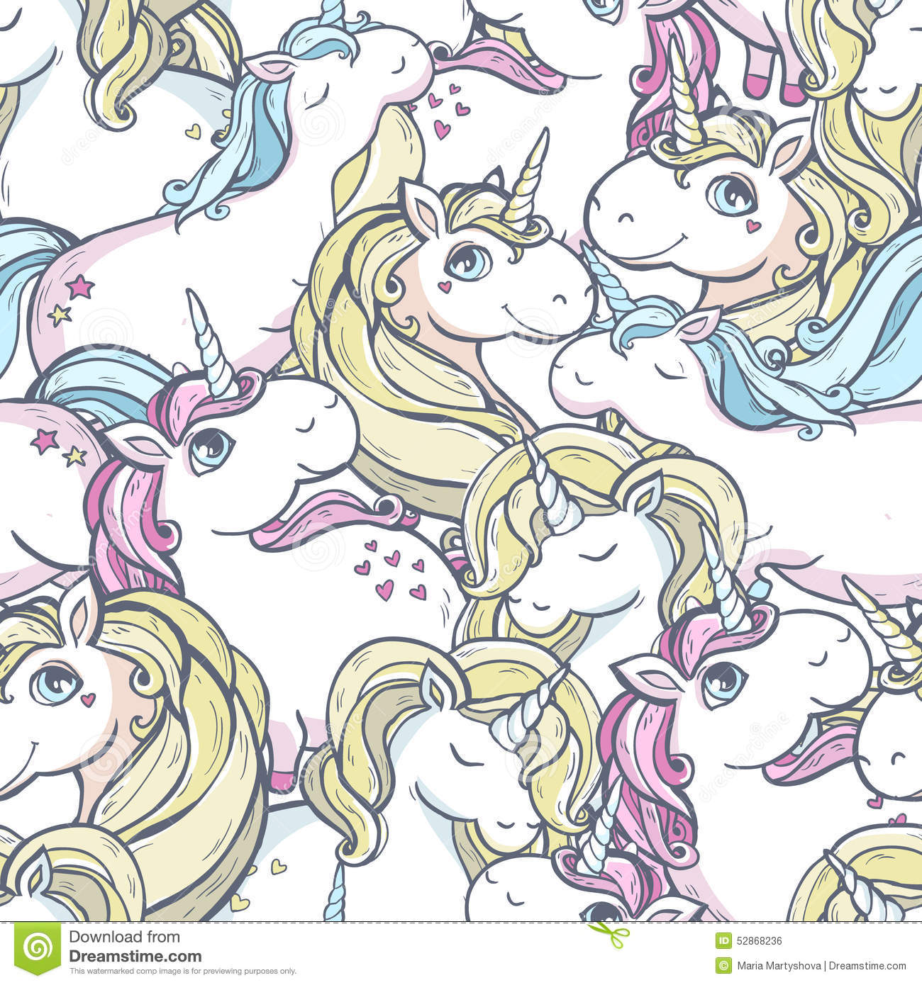 Pattern with unicorns.