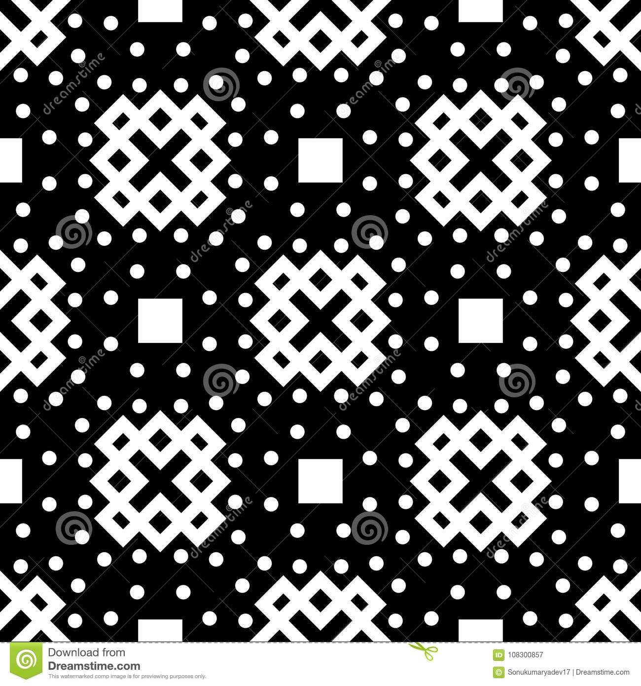 Black Background Vector Seamless Repeted Pattern Design Stock Vector ...