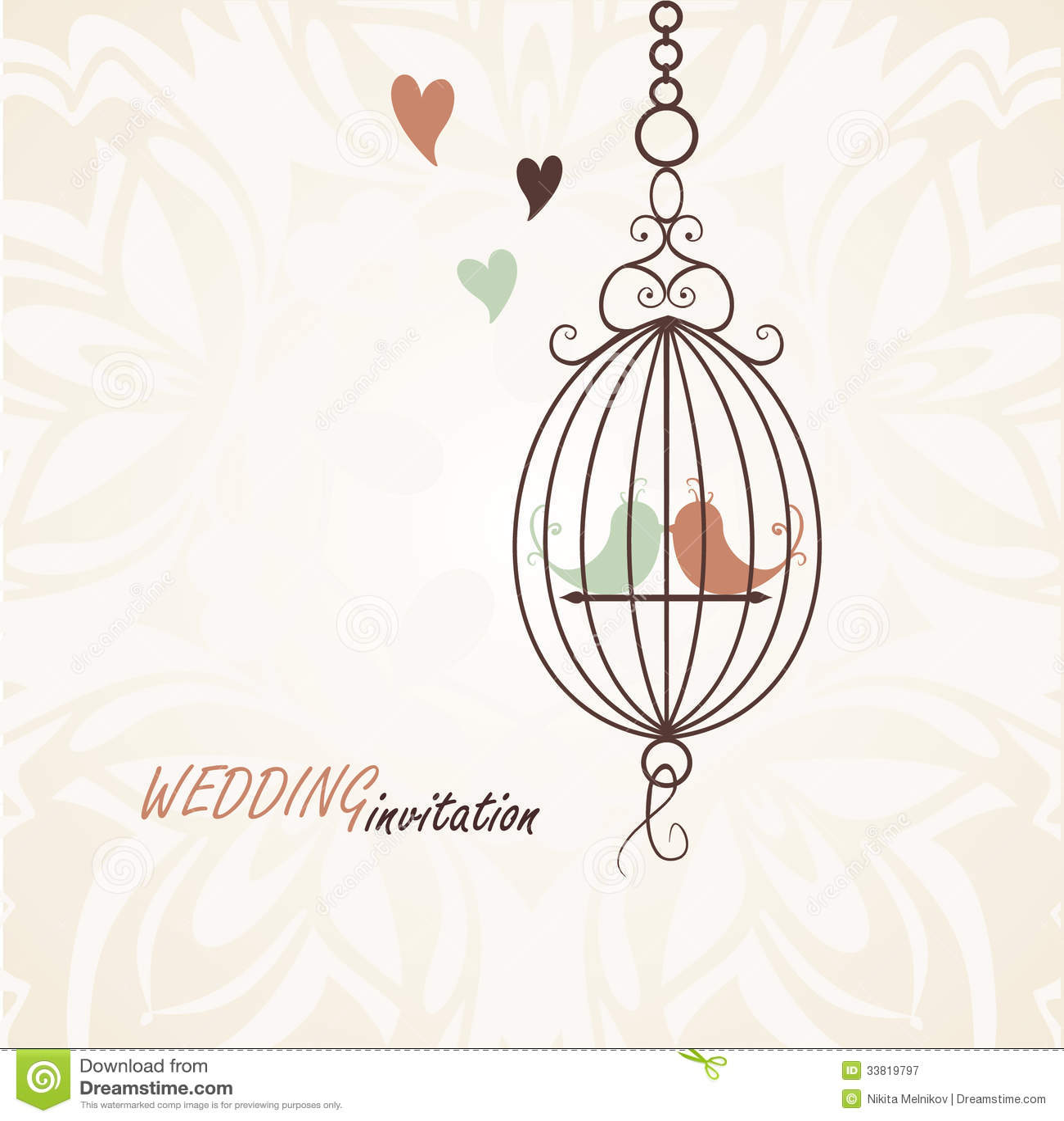 Pattern For Wedding Invitation Stock Vector - Illustration of ...