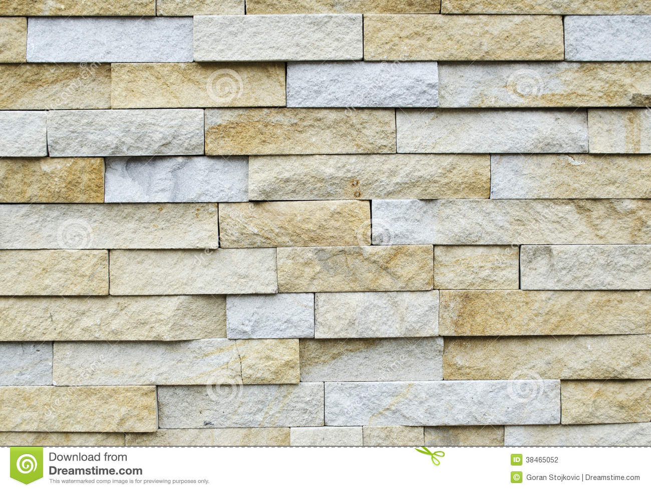 Pattern Of White Modern Stone Brick Wall Surfaced Stock