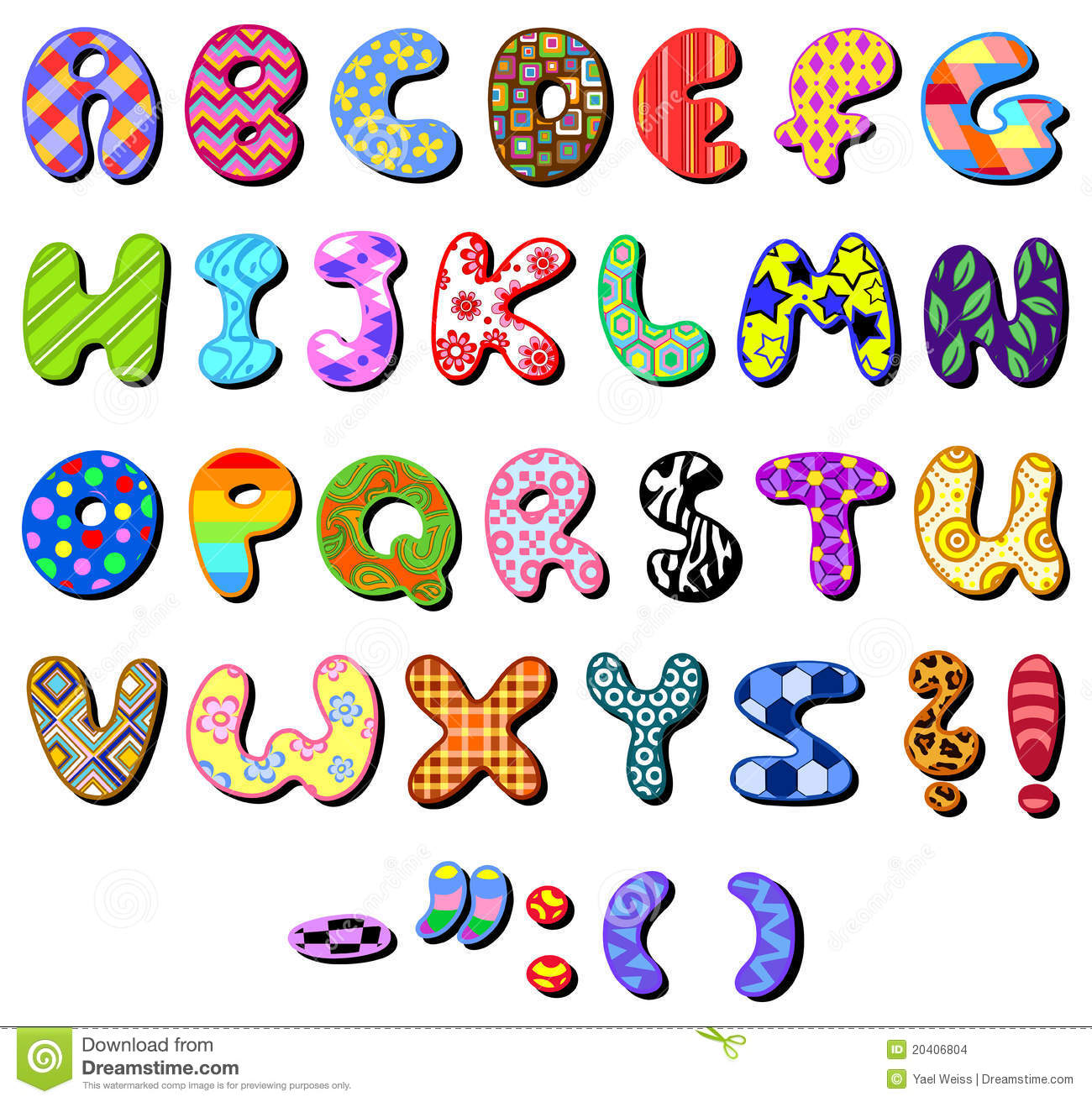 https://thumbs.dreamstime.com/z/patterned-alphabet-20406804.jpg
