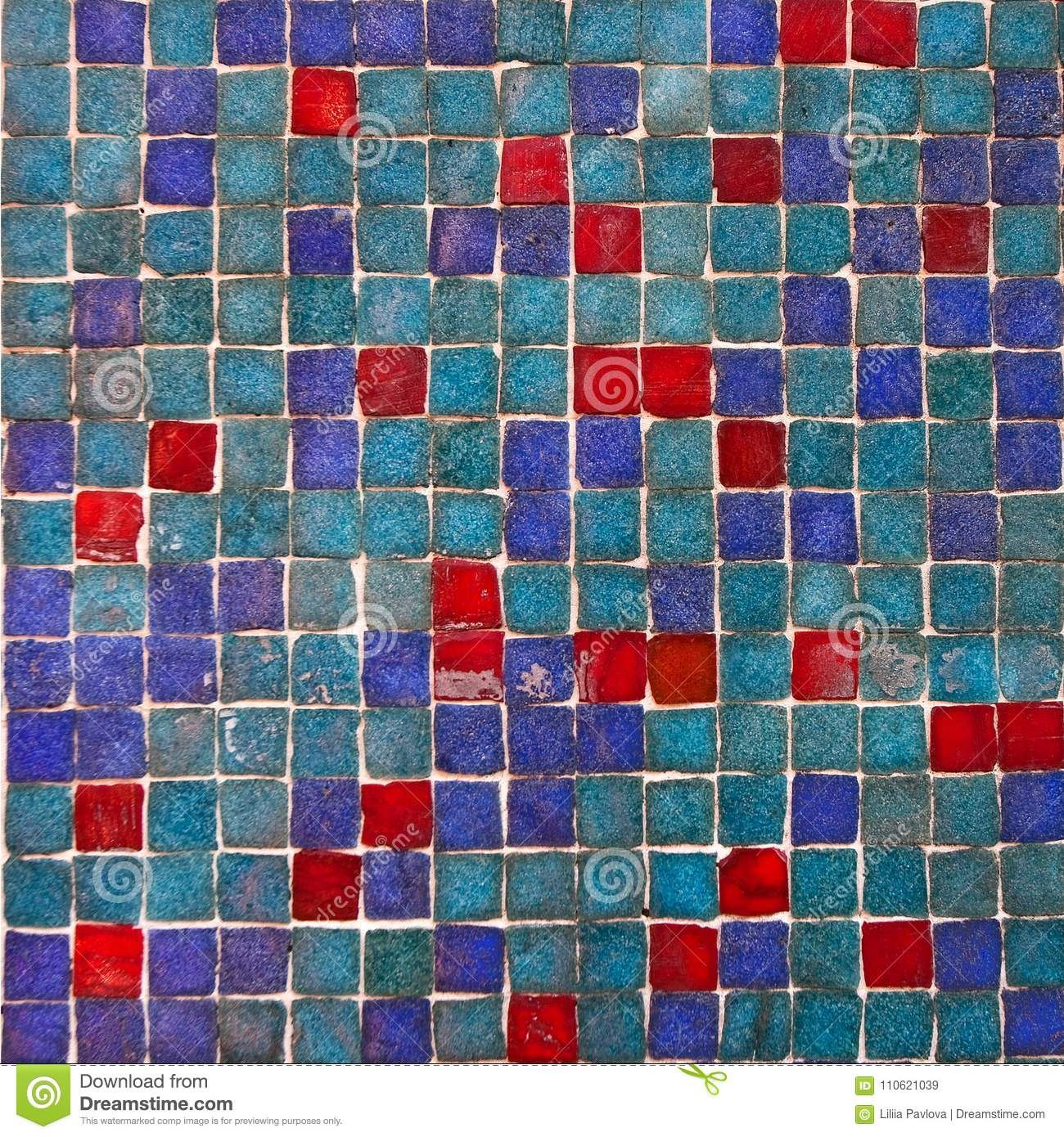Patterned Colored Tiles On Houses Symbol Of Lisbon. Abstract ...