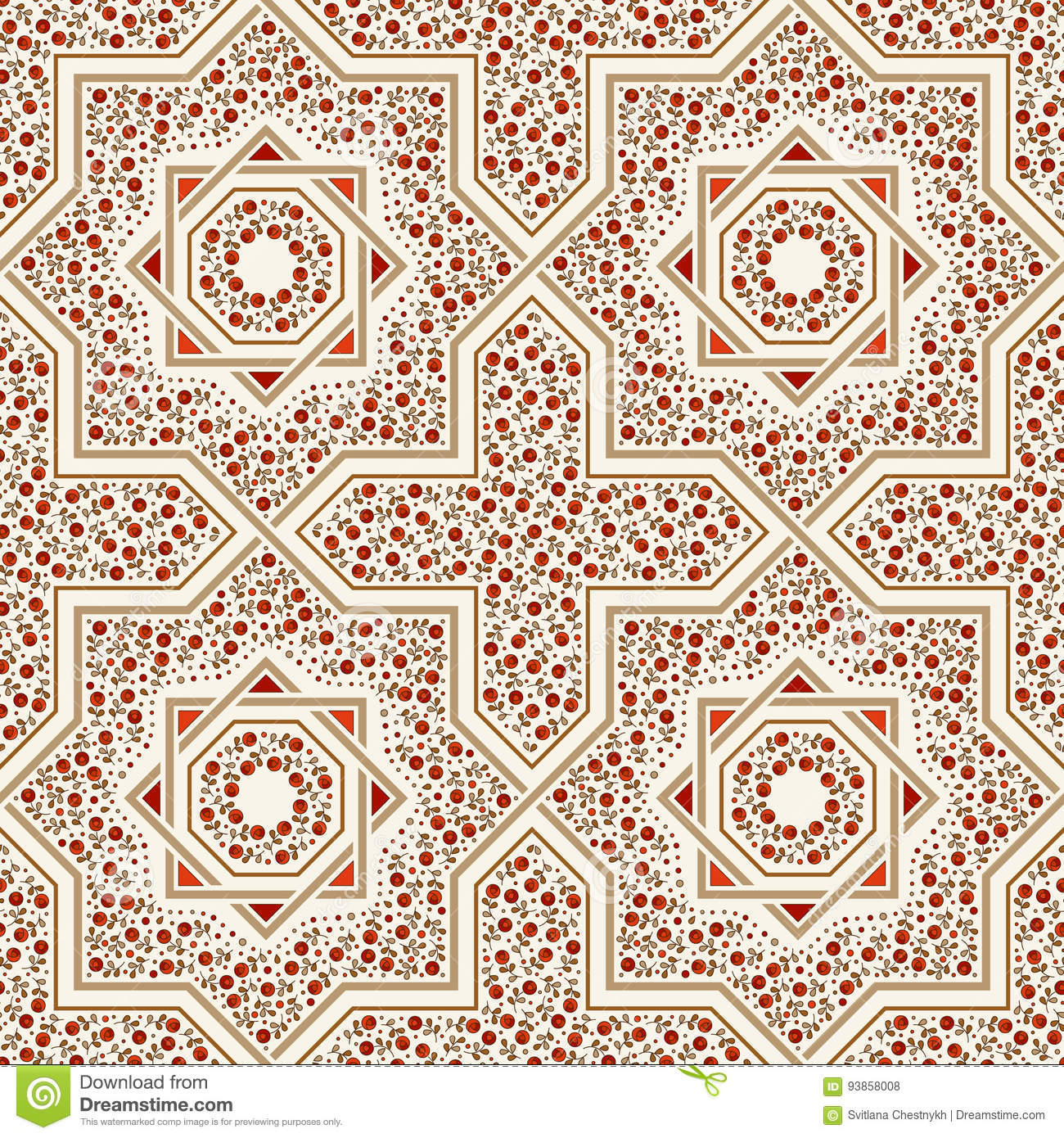 patterned floor tile moroccan pattern stock vector image 93858008