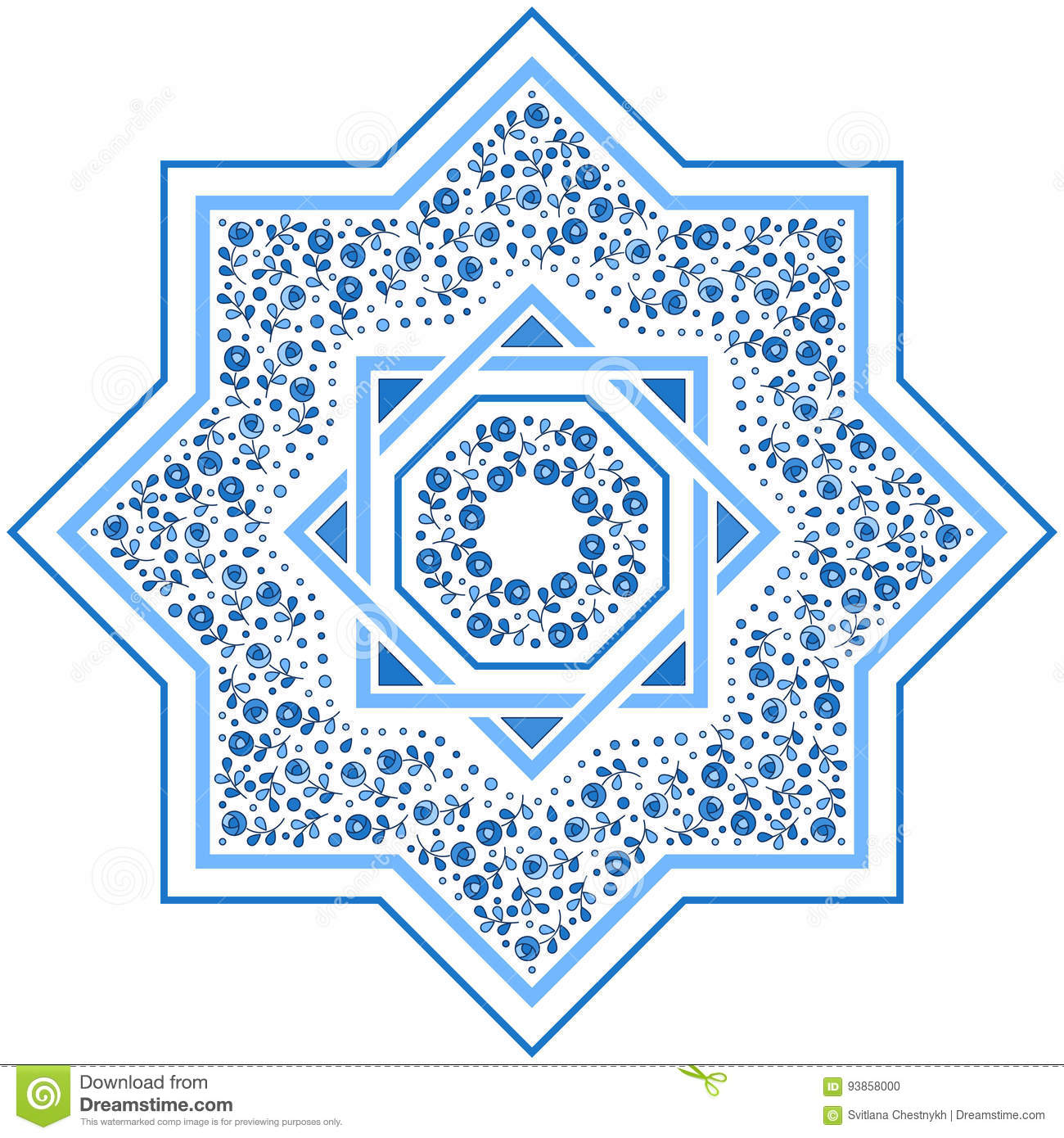 Patterned Floor Tile Moroccan Pattern Stock Vector
