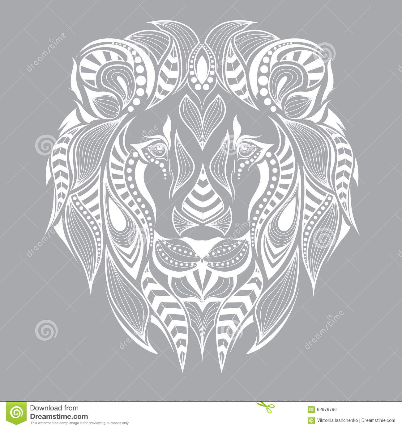 Patterned head of the lion african indian totem tattoo patterned head of the lion african indian totem tattoo design it may be used for design of a t shirt bag postcard and po buycottarizona