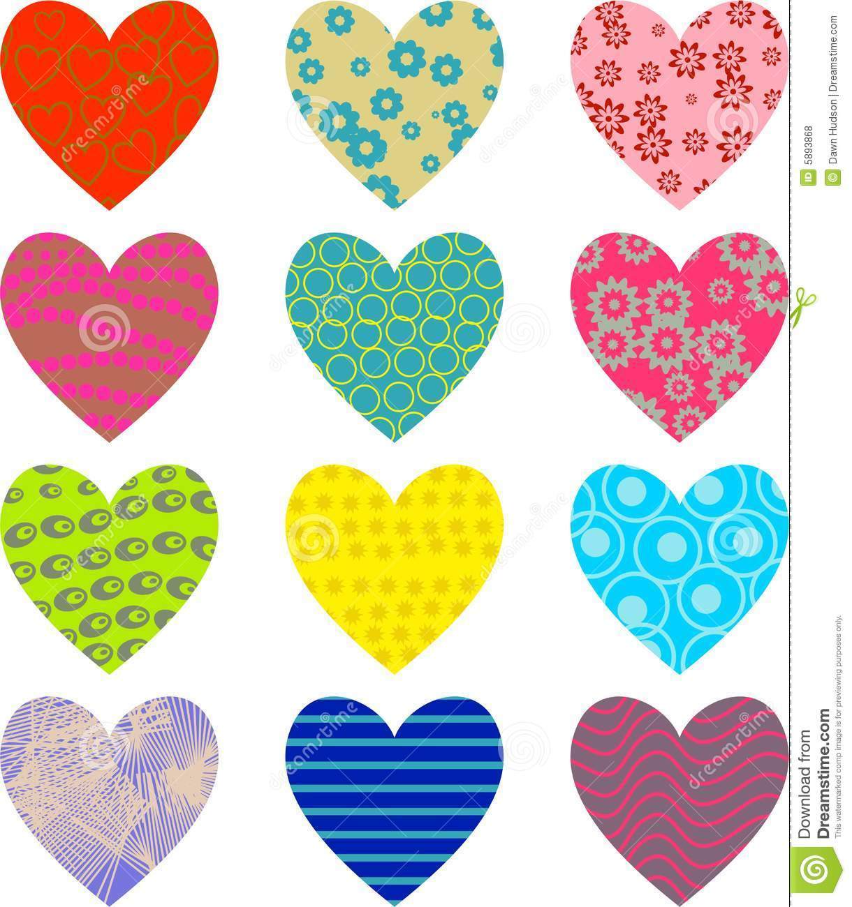 Artistic abstract patterned heart wallpaper background design.