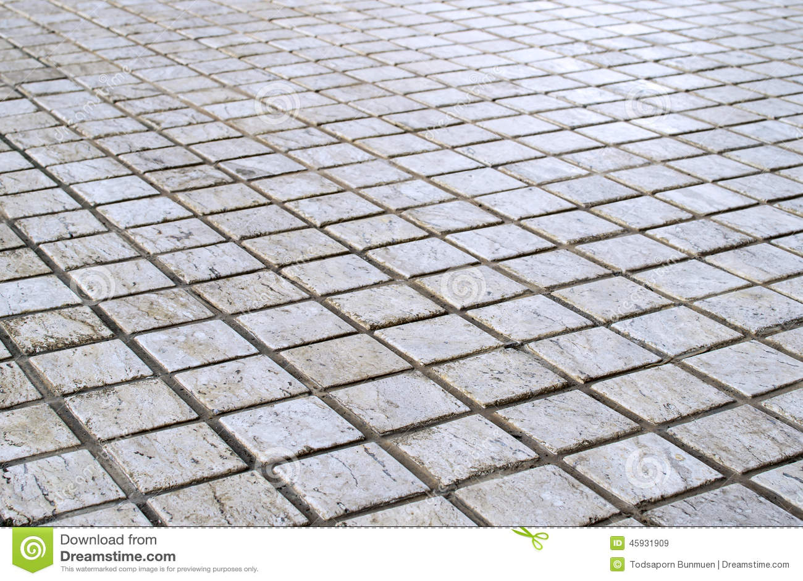 Patterned Paving Tiles Cement Brick Floor Background