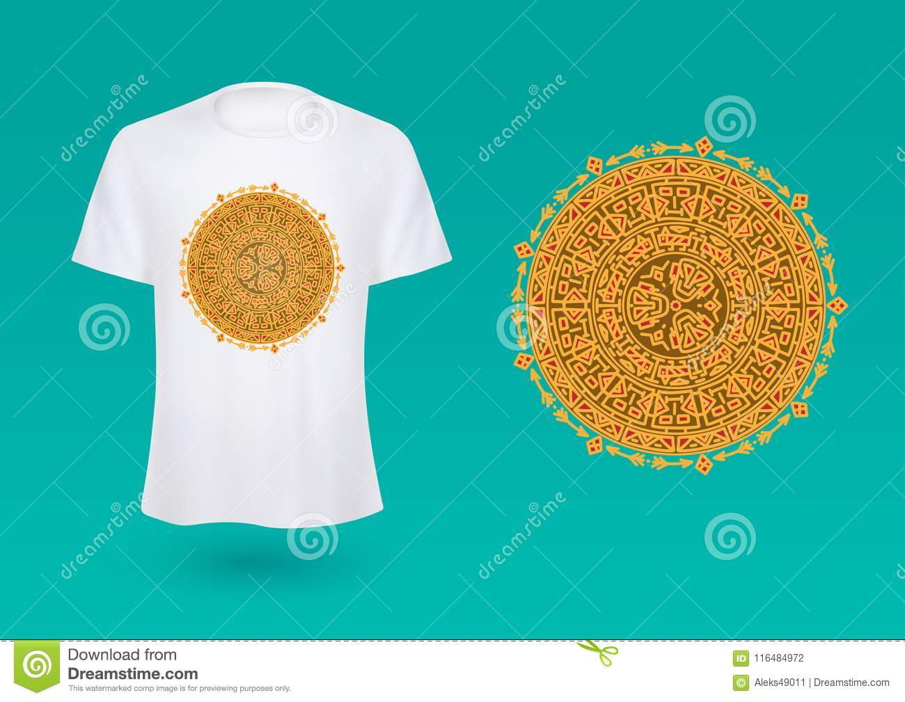 Shirt with emblem mocap illustration vector