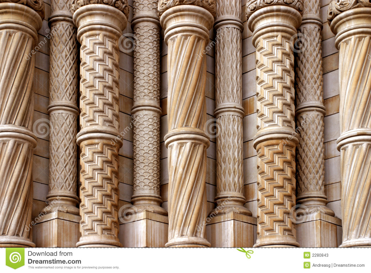 Stone Pillars And Columns : Patterned stone columns stock image of strength