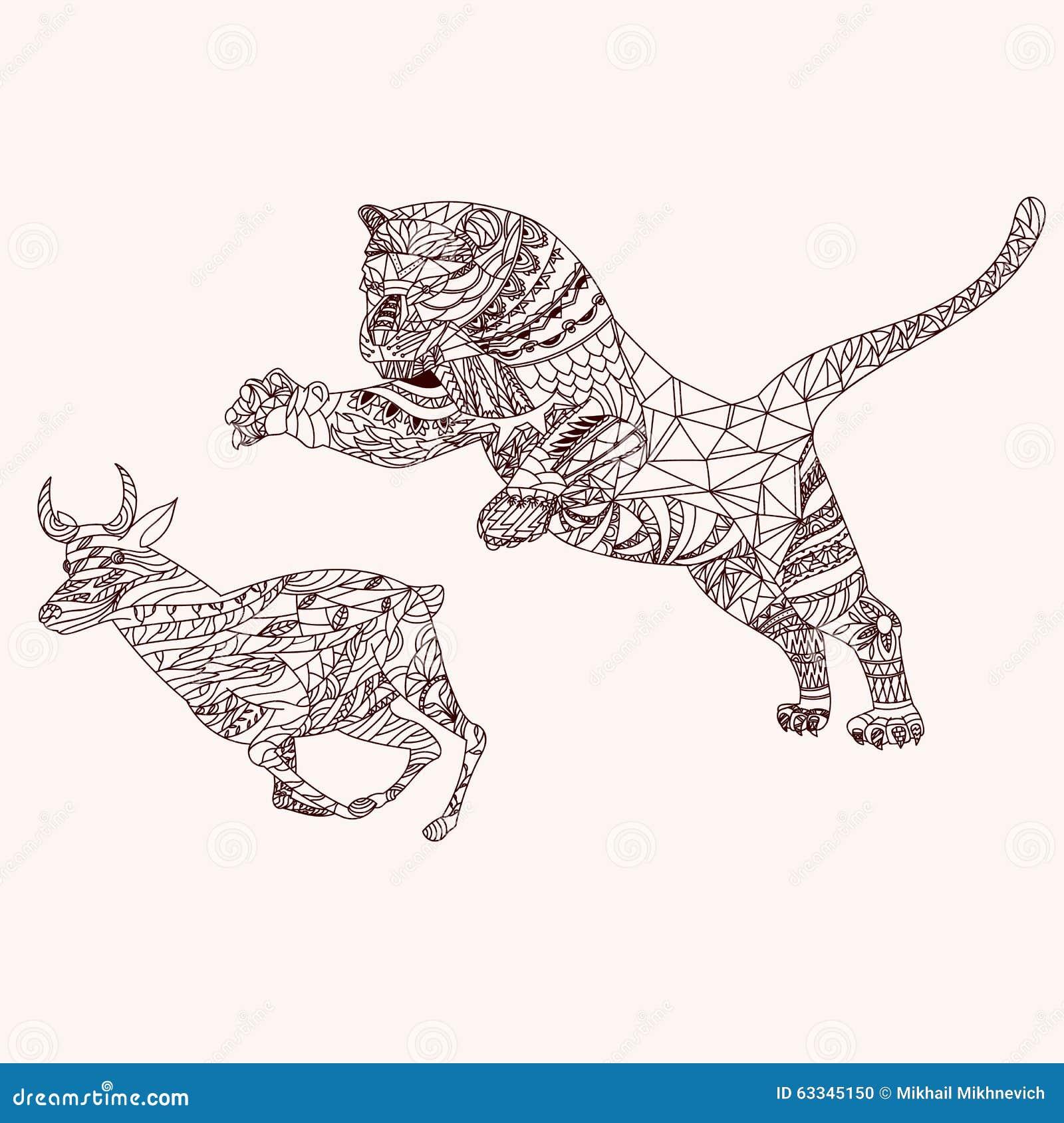 Mandala Tiger Royalty Free Stock Photo