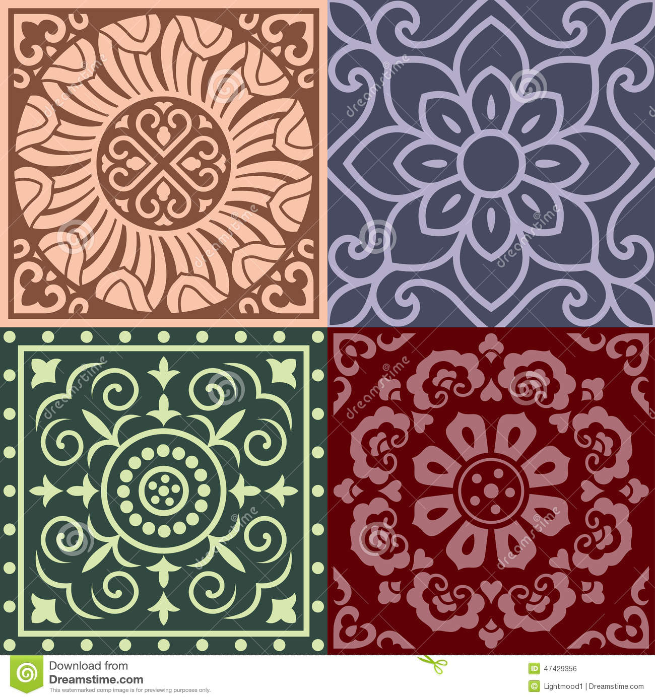 Traditional China Patterns patterns of china traditional style stock vector - image: 47429356