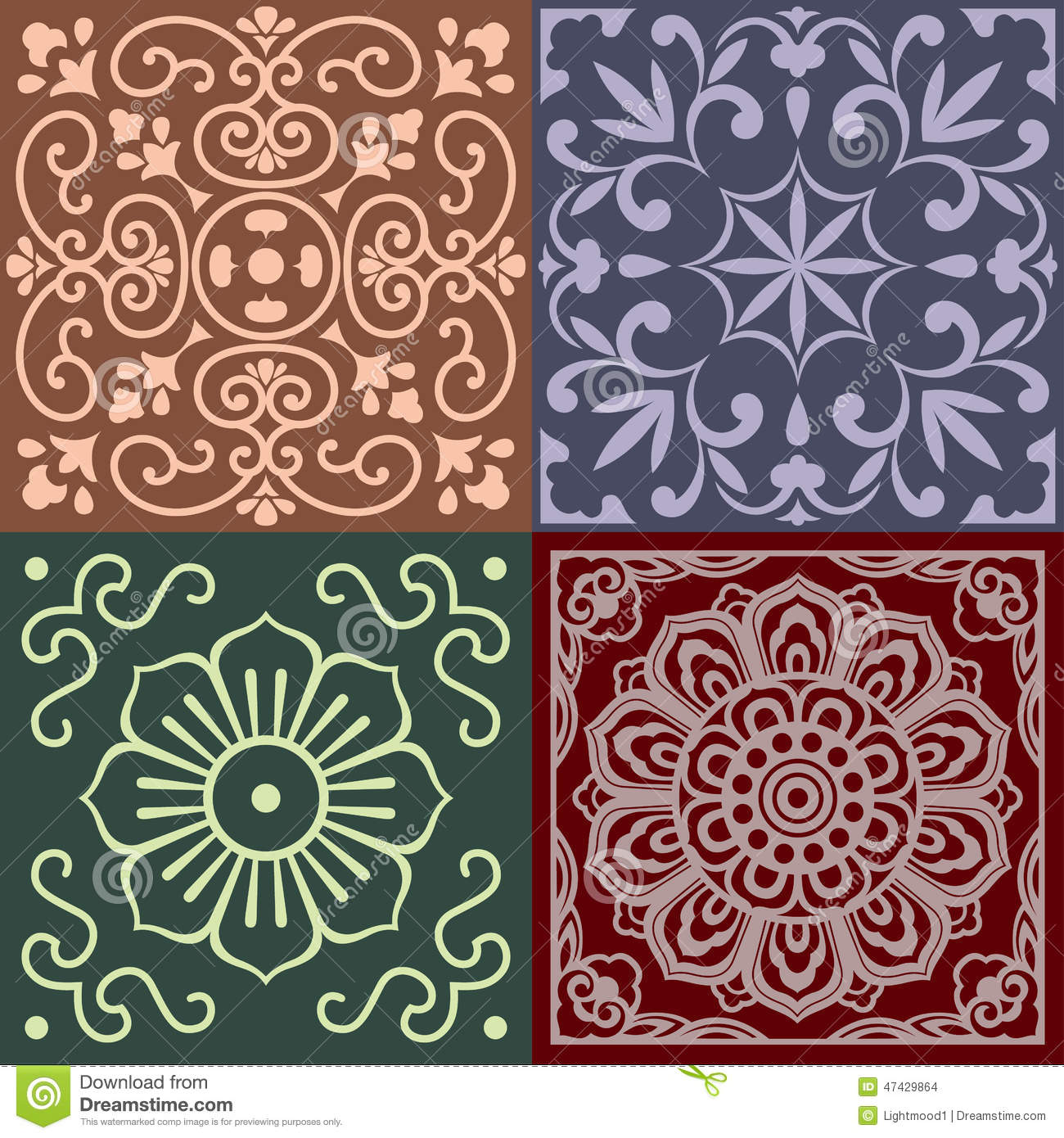 Traditional China Patterns patterns of china traditional style stock vector - image: 47429864