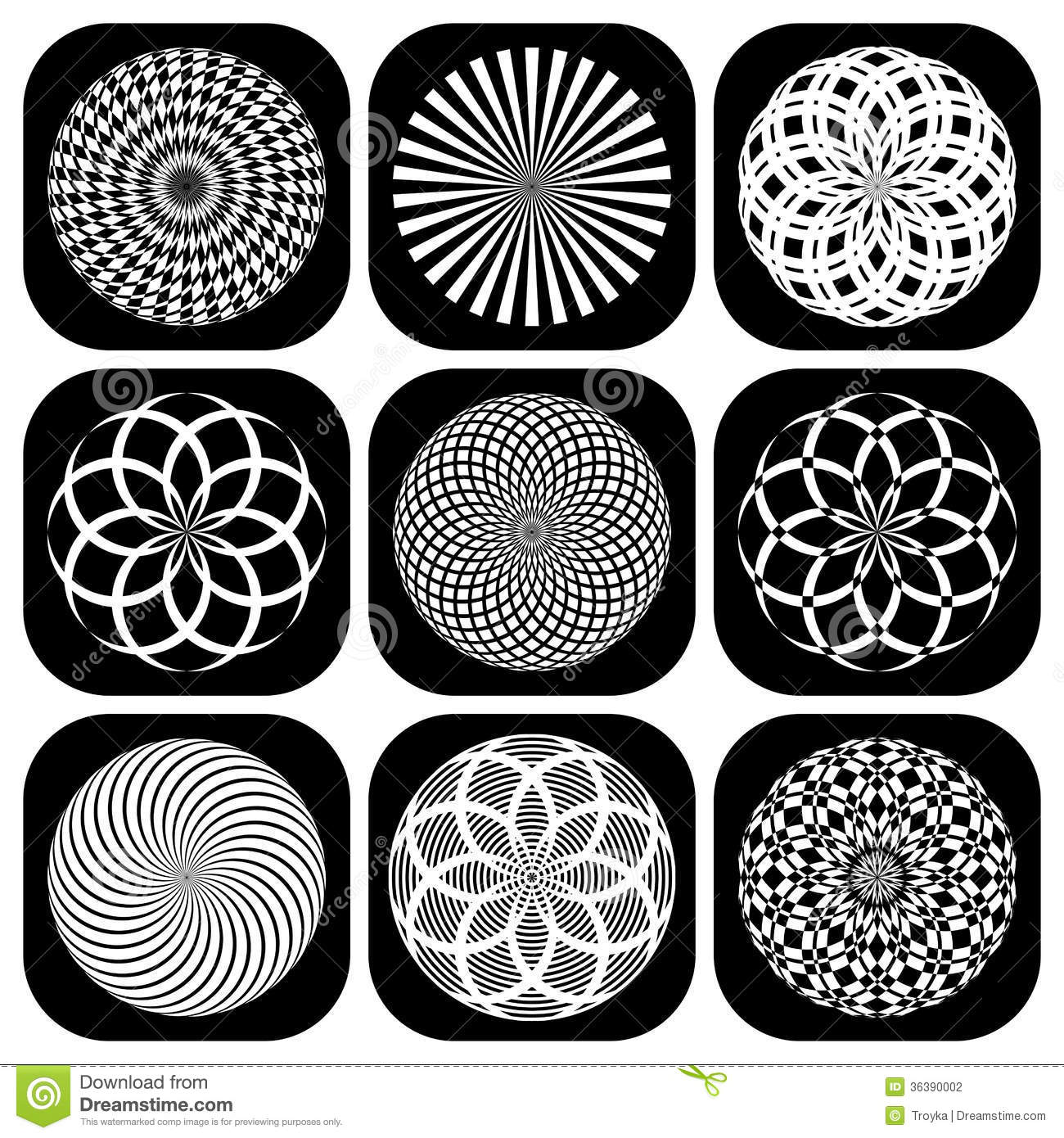 Worksheets Shape Design Patterns patterns in circle shape design elements set stock photography set