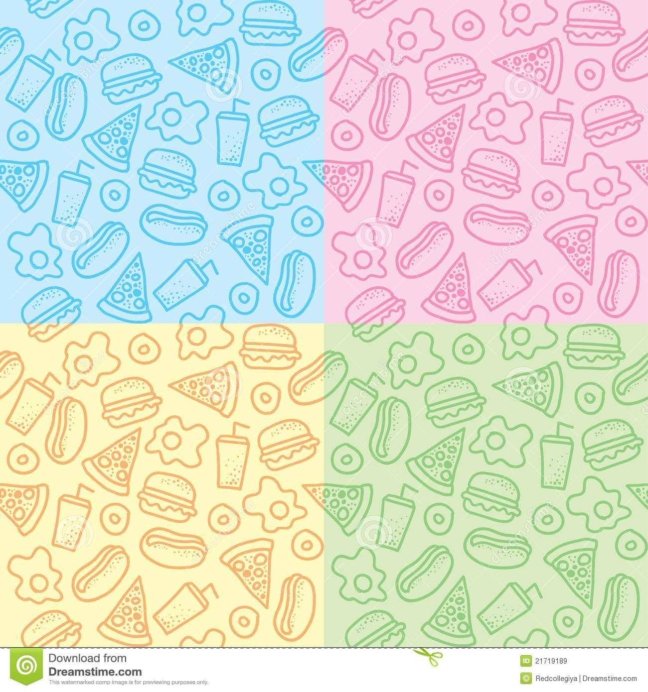 Patterns with fast food