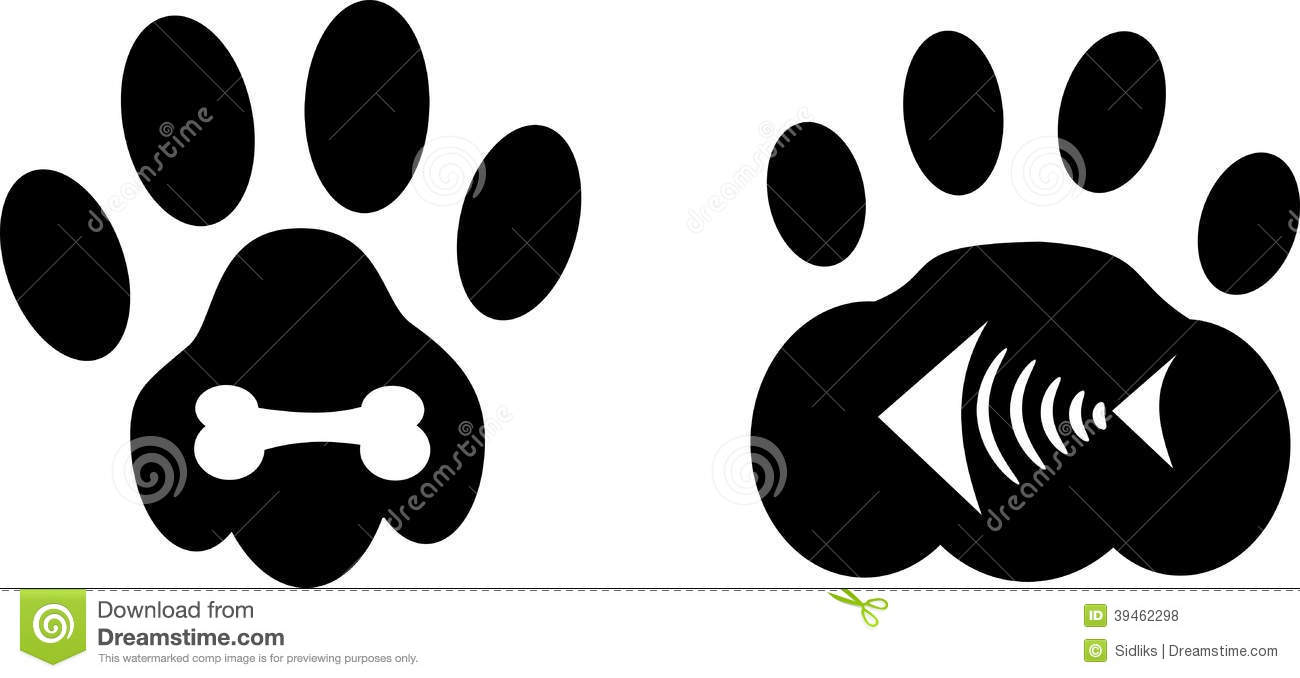 Dog Paw Print Vs Cat Paw Print