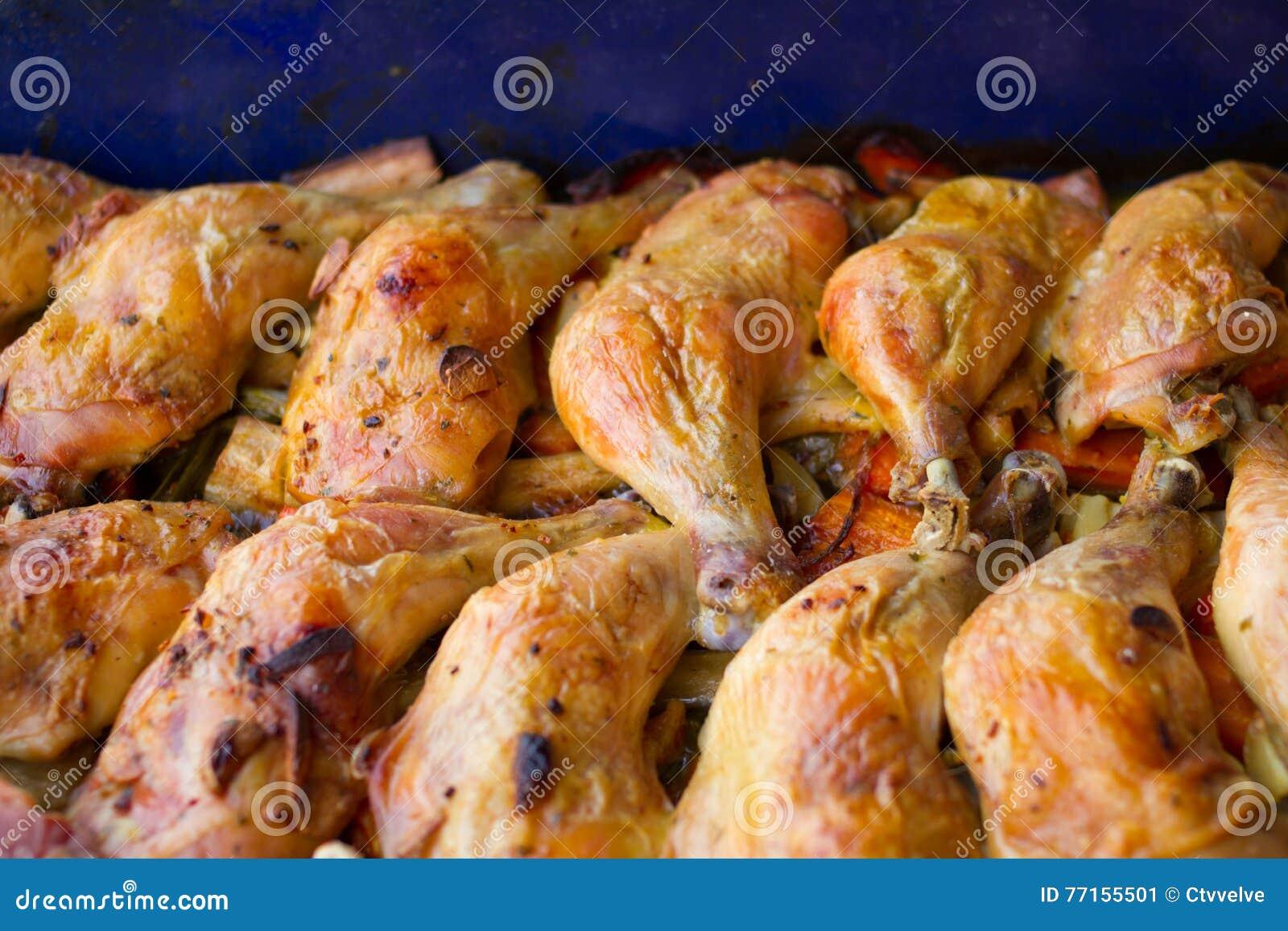 Pattes de poulet cuites au four