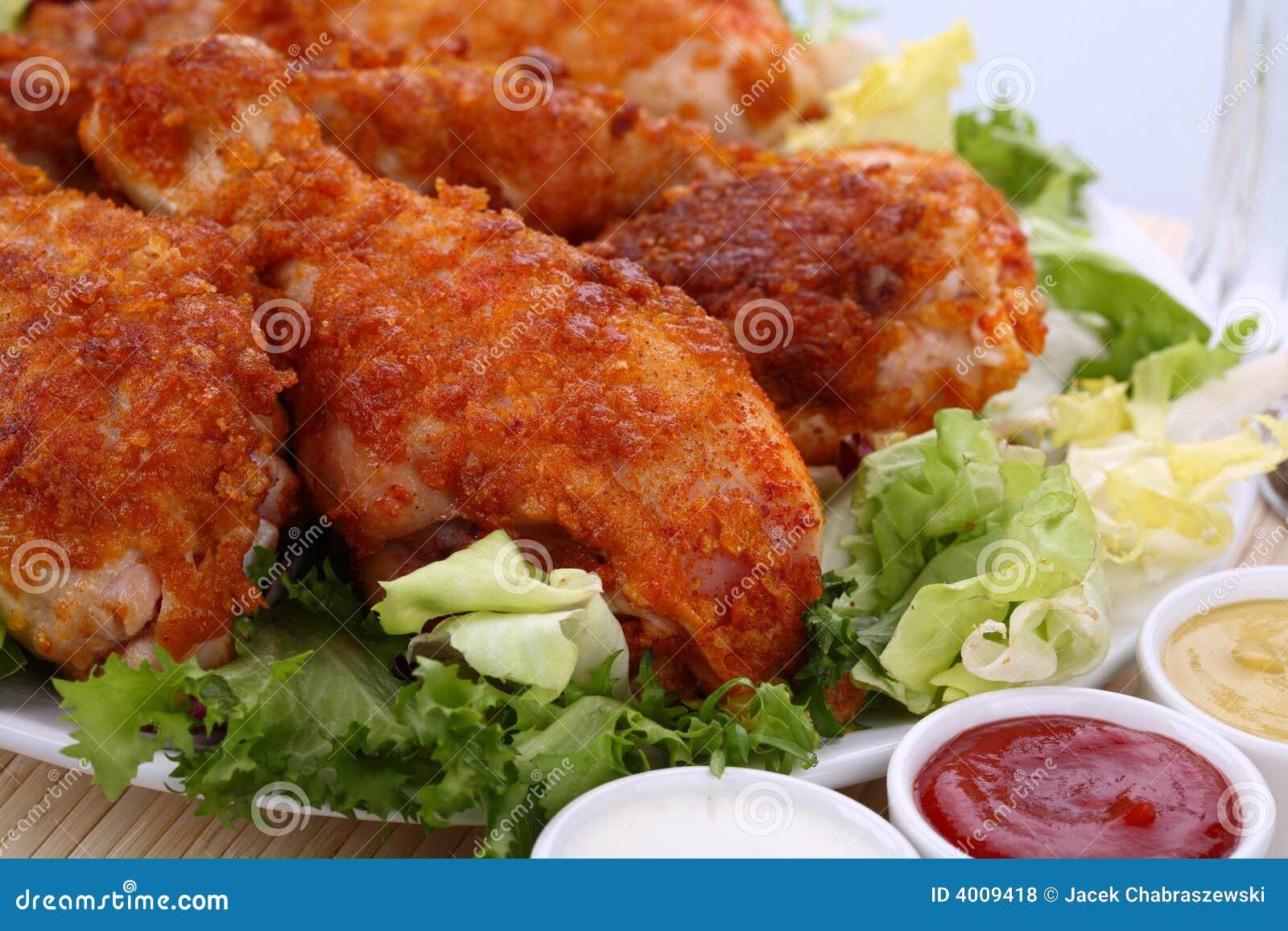 Pattes de poulet rôti