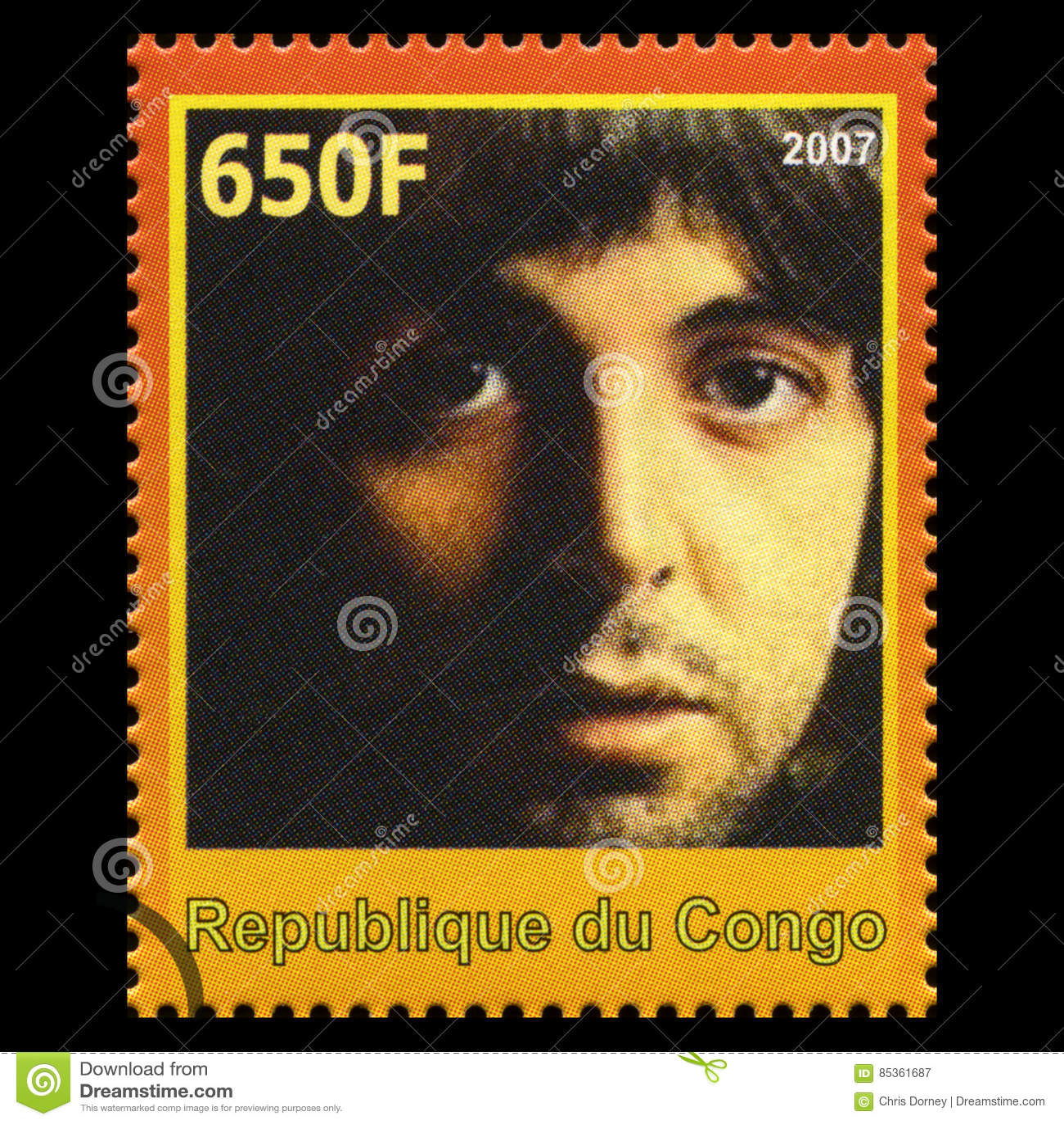 Paul McCartney Beatles Postage Stamp de Congo