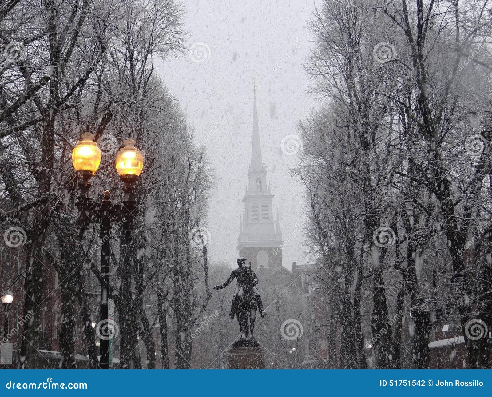 Paul Revere Monument, iglesia del norte vieja, Boston