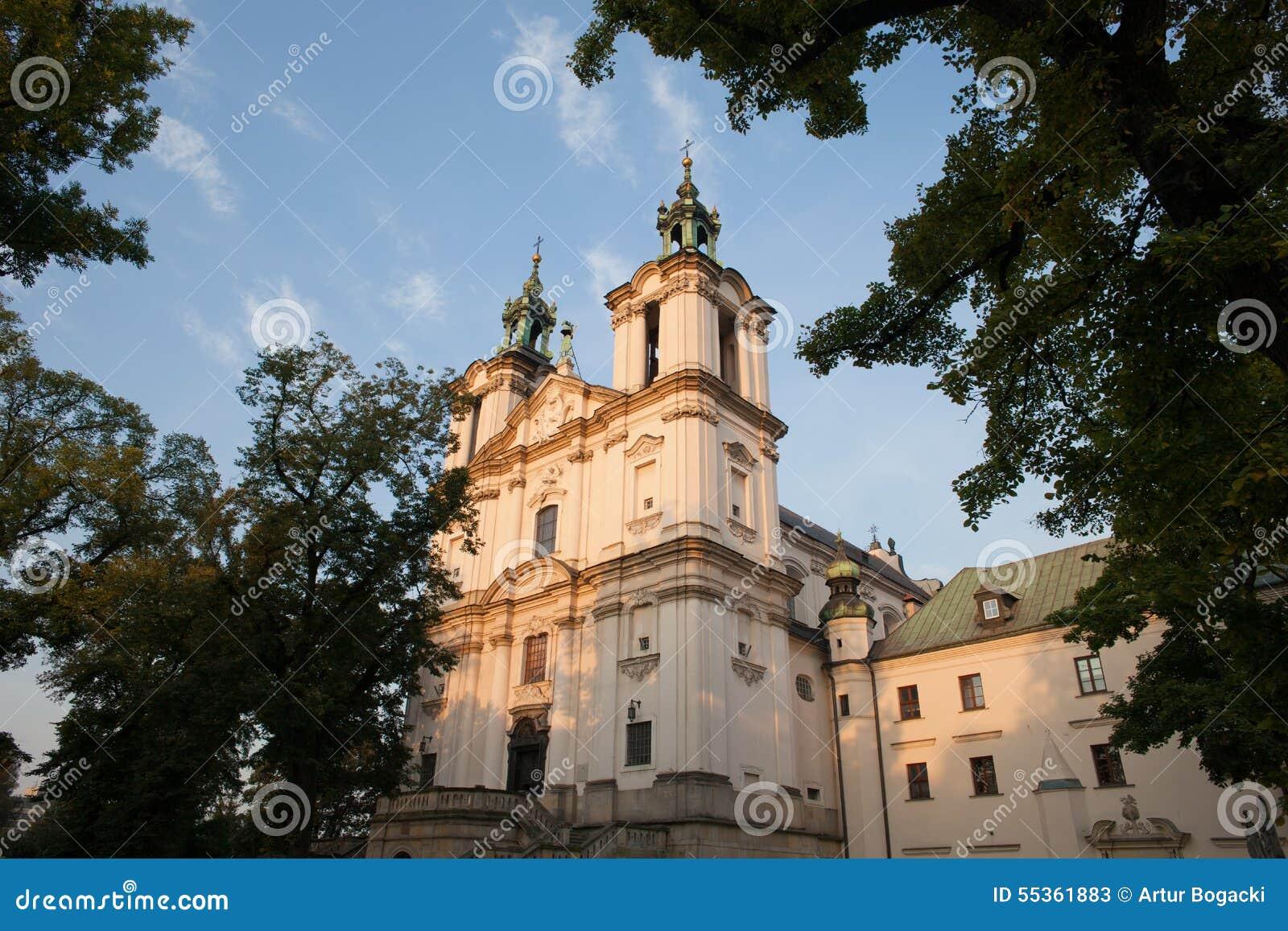 Pauline Church sulla roccia a Cracovia