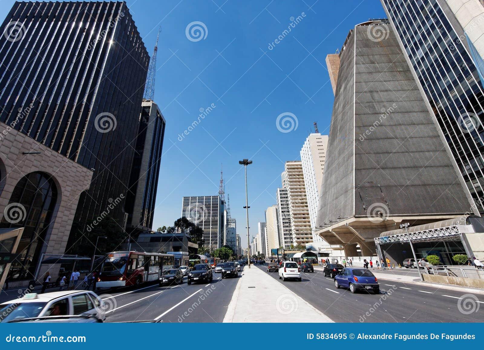 Paulista avenue Brazylijskie sao Paulo