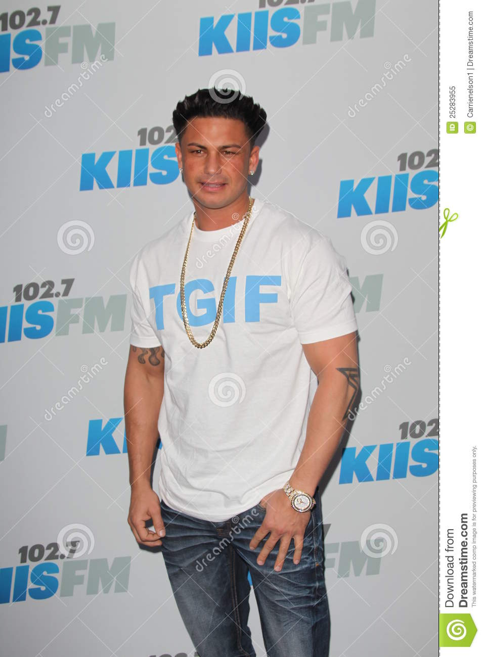 Pauly D arrives at the
