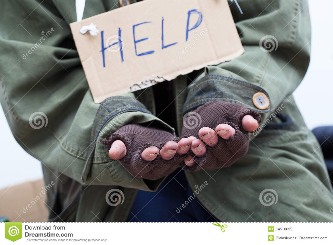 Pauper Asking For Help Royalty Free Stock Photo - Image: 34510035