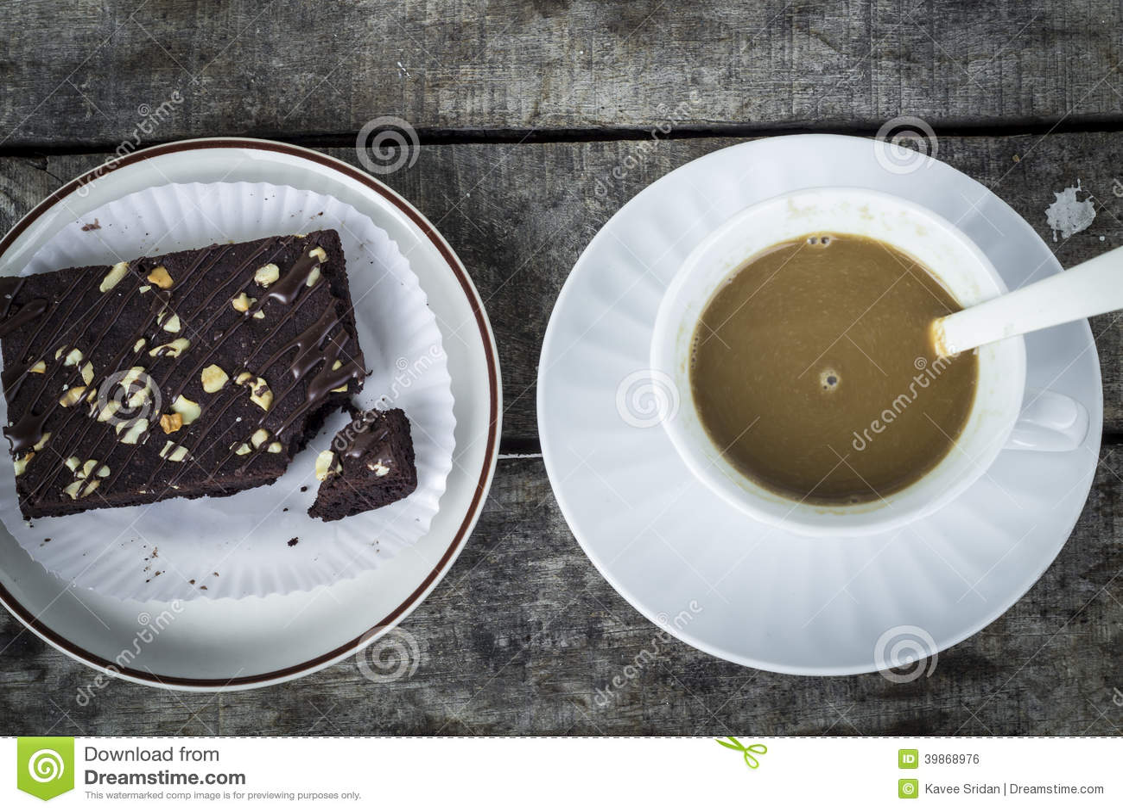 Pausa caffè con i brownie