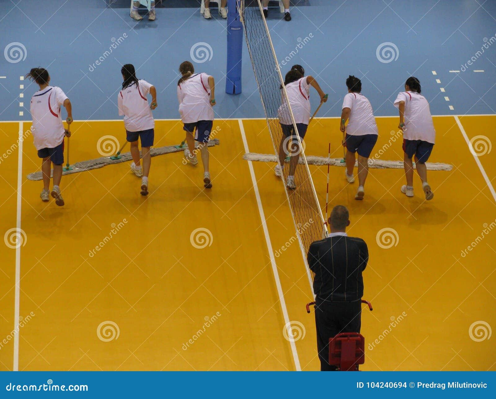 Pause au match de volleyball